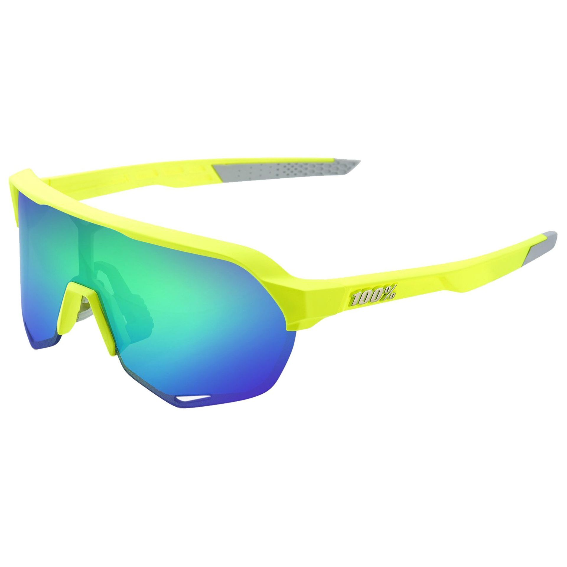 OKULARY 100% S2 MATTE FLUO YELLOW|GREEN ML 1