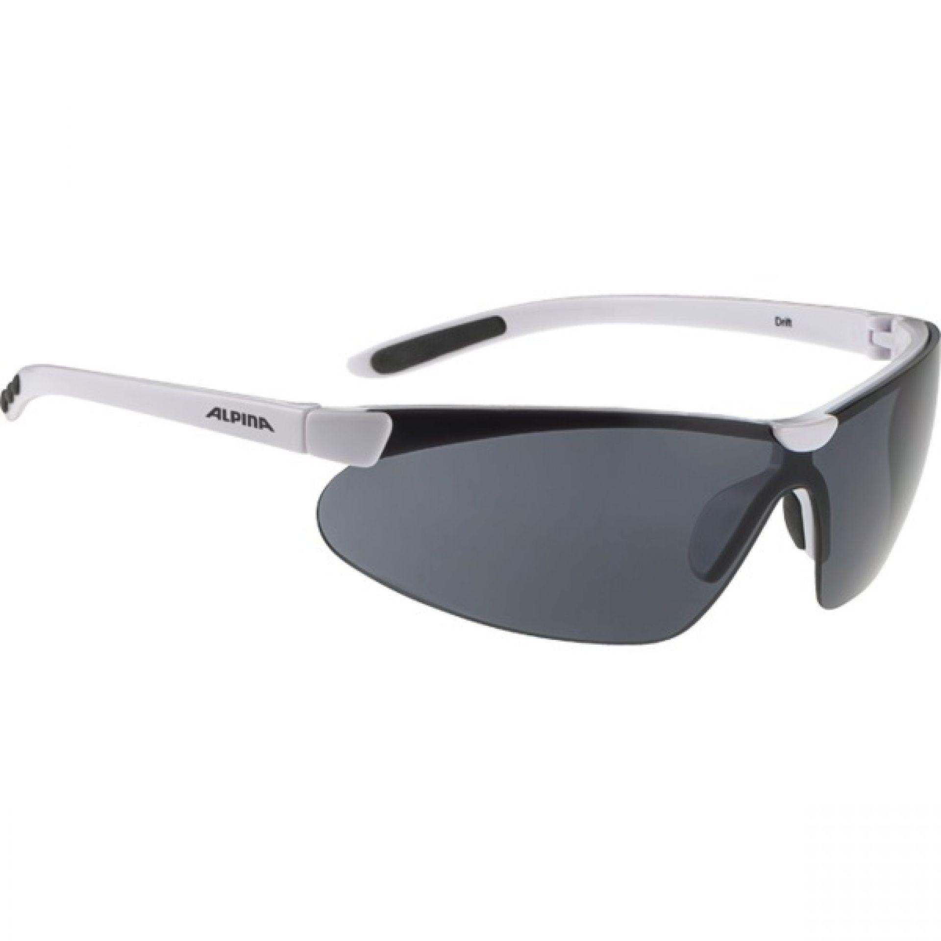 Okulary Alpina Drift biało czarne