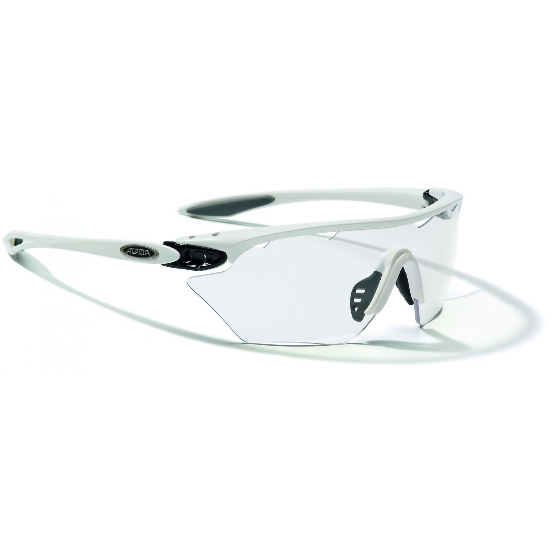 OKULARY ALPINA TWIST FOUR SHIELD VL+ WHITE BLACK