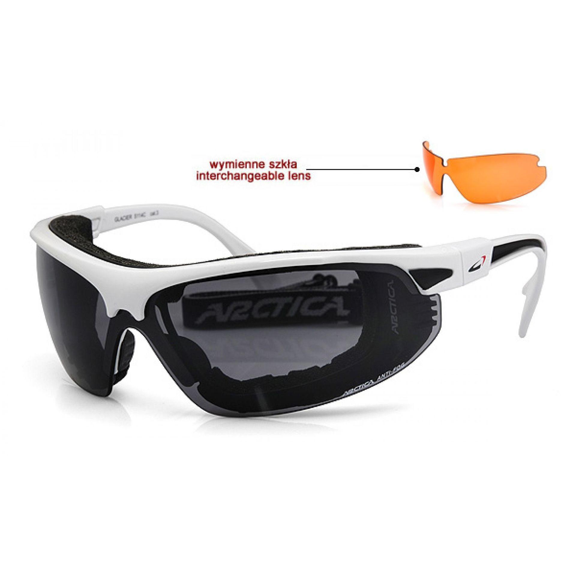Okulary Arctica S-114C biało czarne