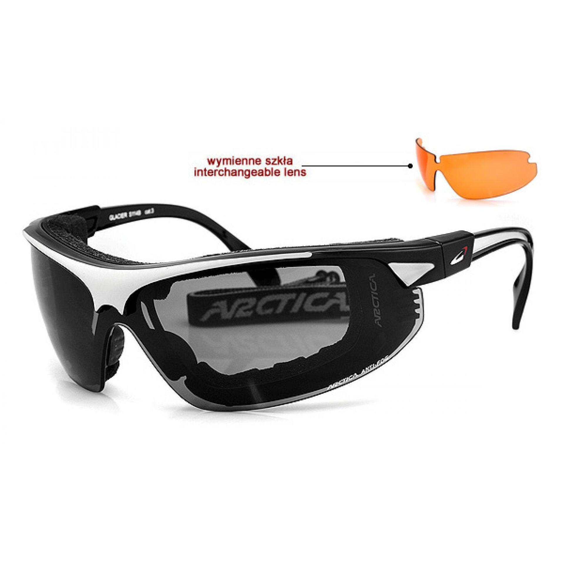 Okulary Arctica S-114E biało czarne