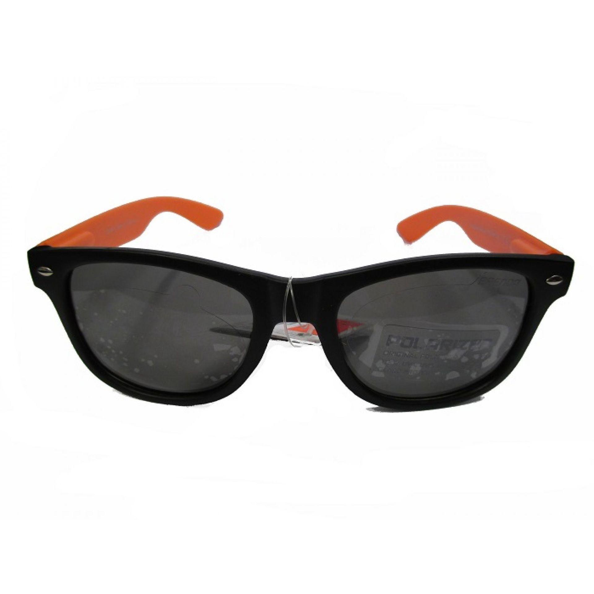 Okulary Brenda P8001-KL10 czarne pomarańczowe