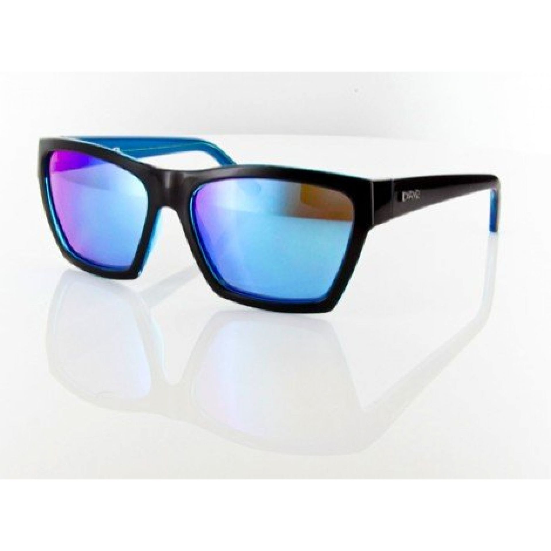 Okulary Carve Hostile czarne niebieskie