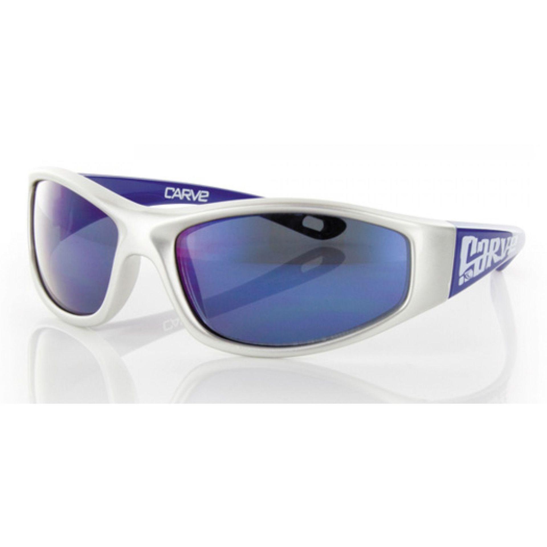 Okulary Carve Playground srebrno niebieskie
