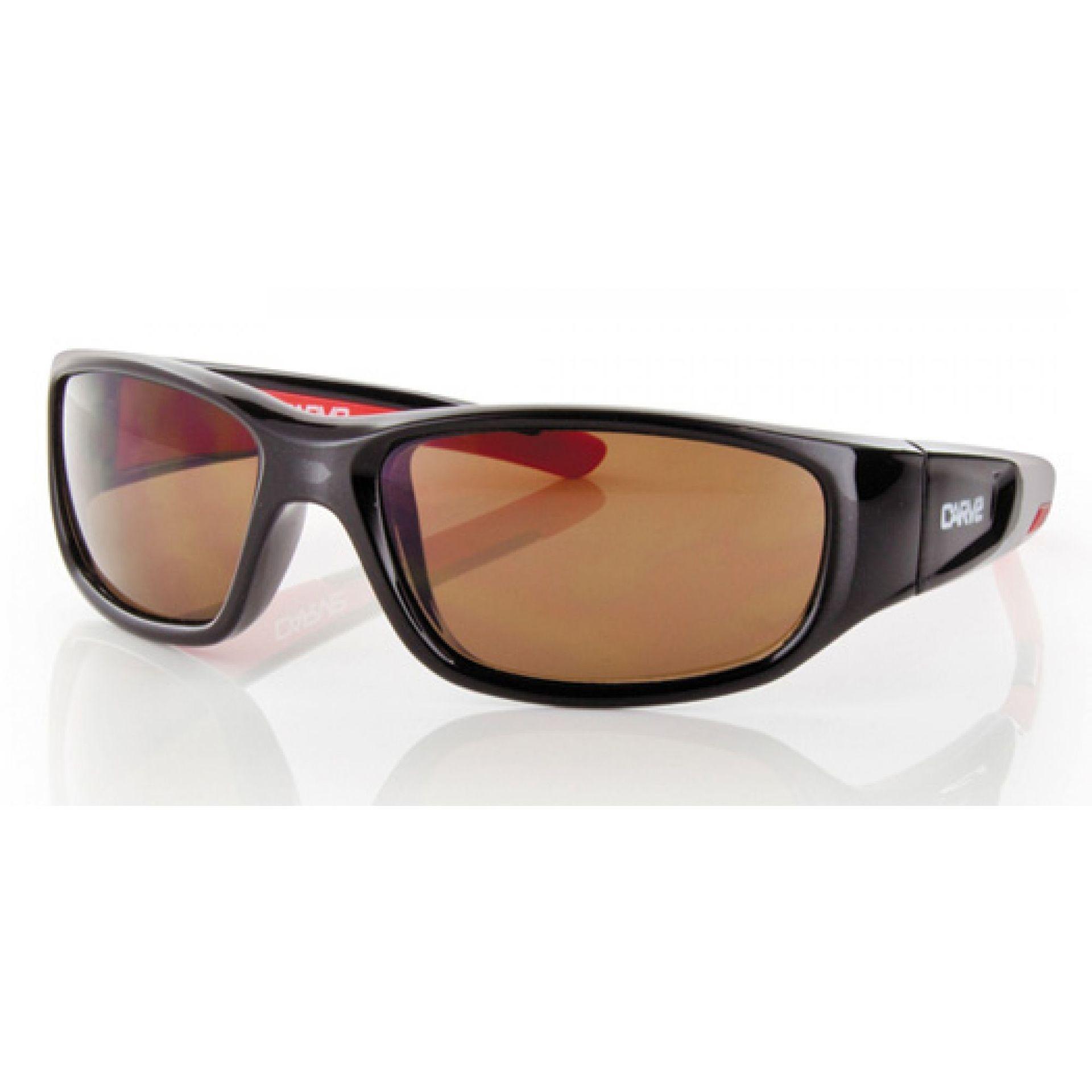 Okulary Carve Slingshot czarno czerwone