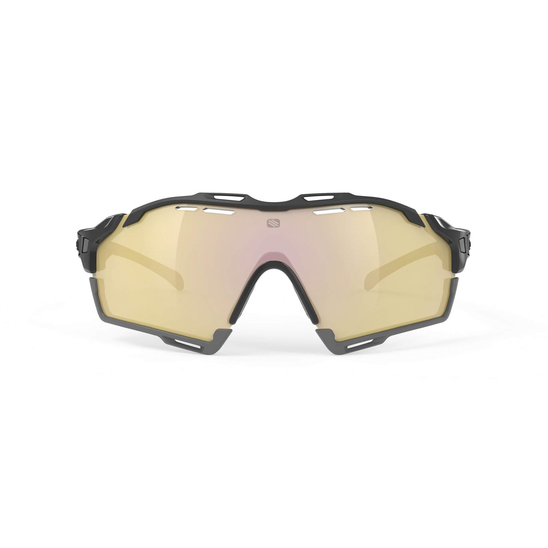 OKULARY RUDY PROJECT CUTLINE MULTILASER GOLD + BLACK GLOSS SP6357420005 PRZÓD