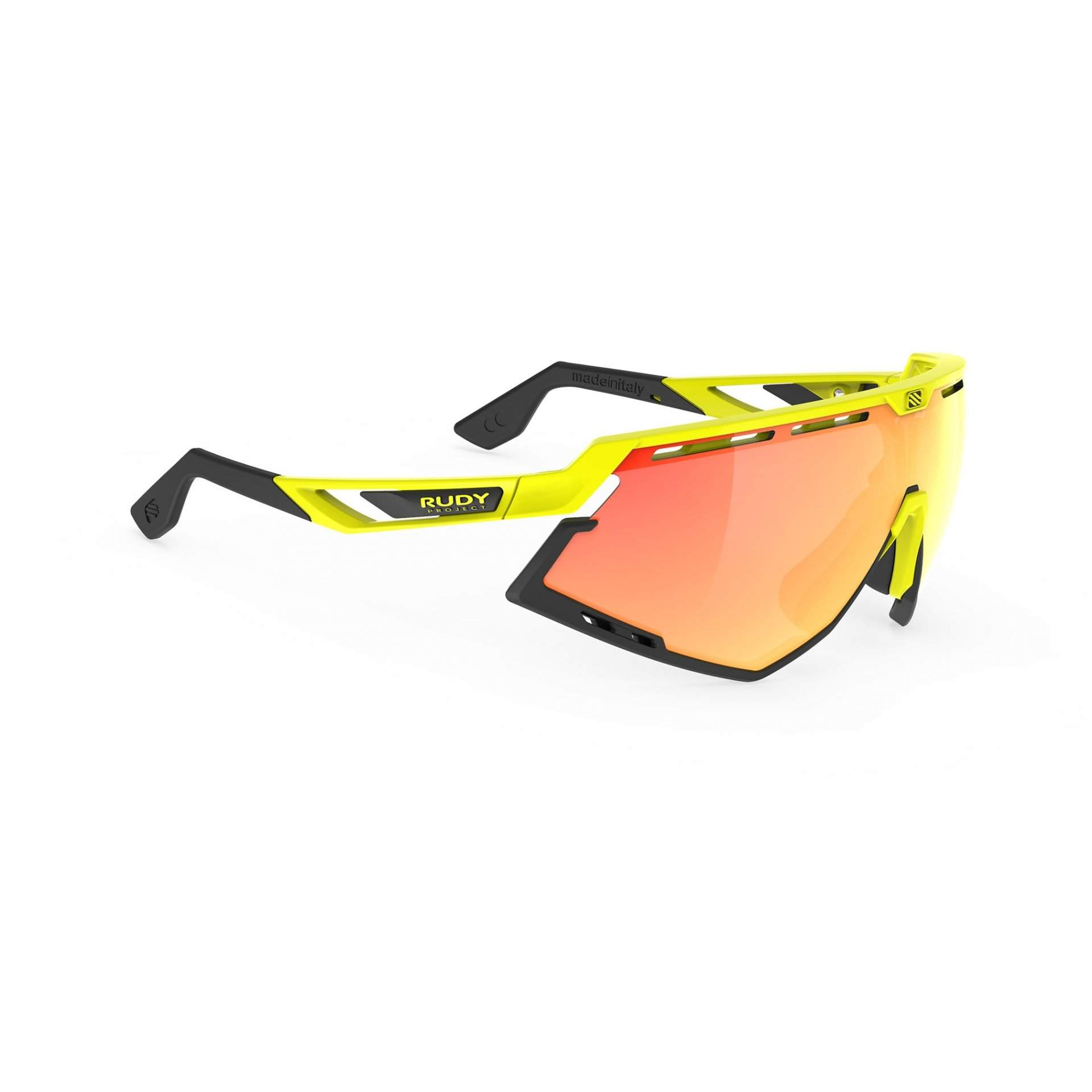 OKULARY RUDY PROJECT DEFENDER MULTILASER ORANGE + YELLOW FLUO GLOSS BUMPERS BLACK SP5240760000