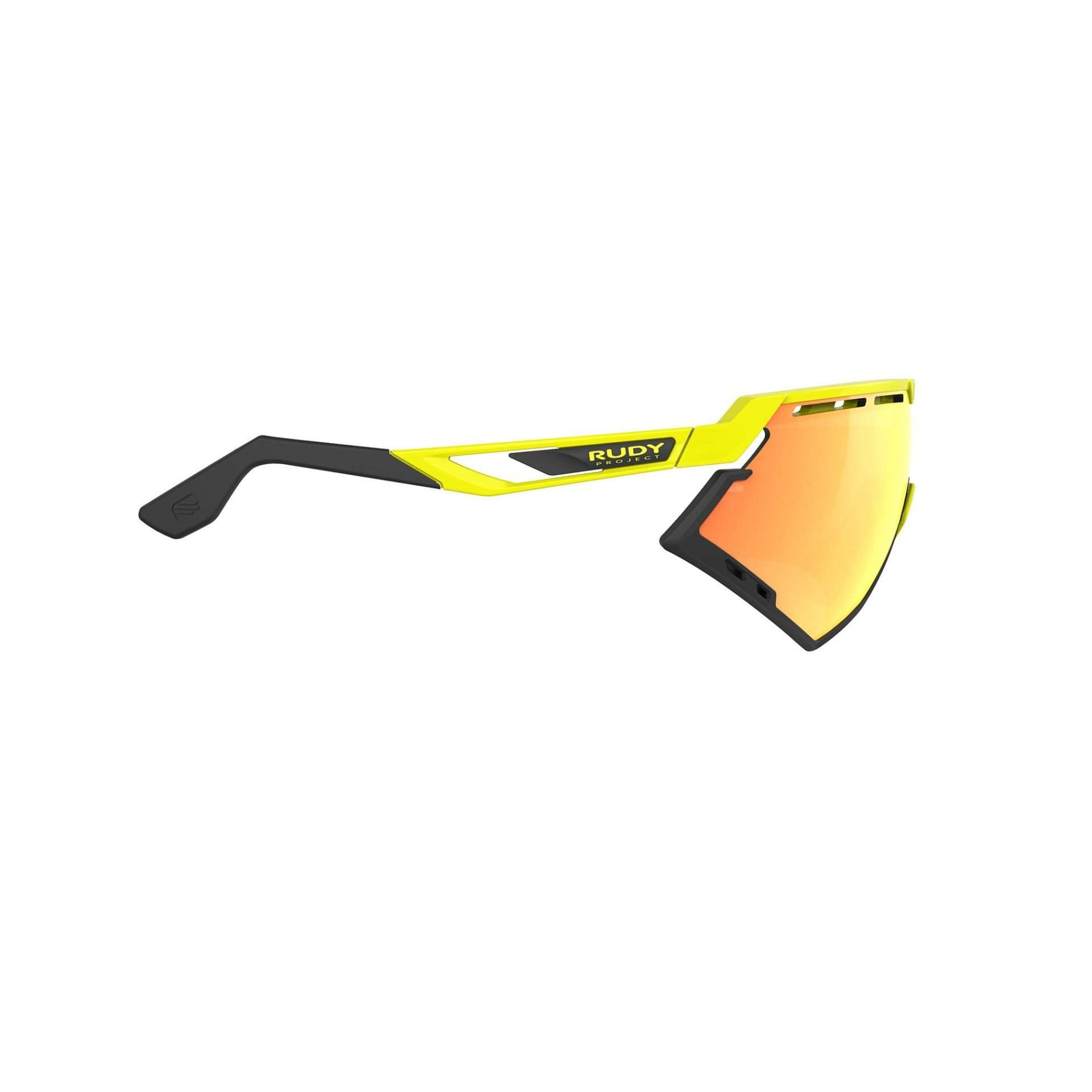 OKULARY RUDY PROJECT DEFENDER MULTILASER ORANGE + YELLOW FLUO GLOSS BUMPERS BLACK SP5240760000 Z BOKU