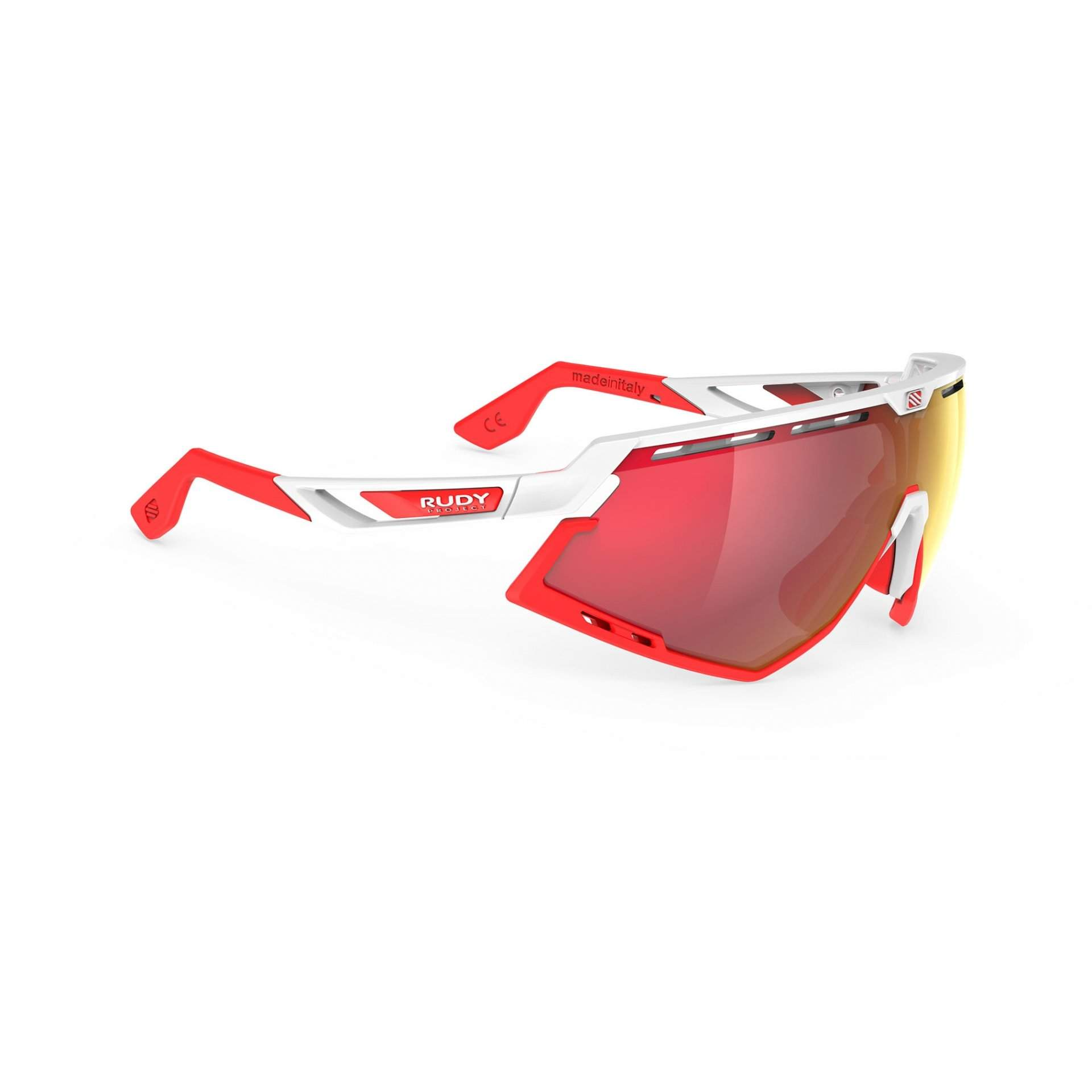 OKULARY RUDY PROJECT DEFENDER MULTILASER RED + WHITE GLOSS BUMPRES RED FLUO SP5238690000