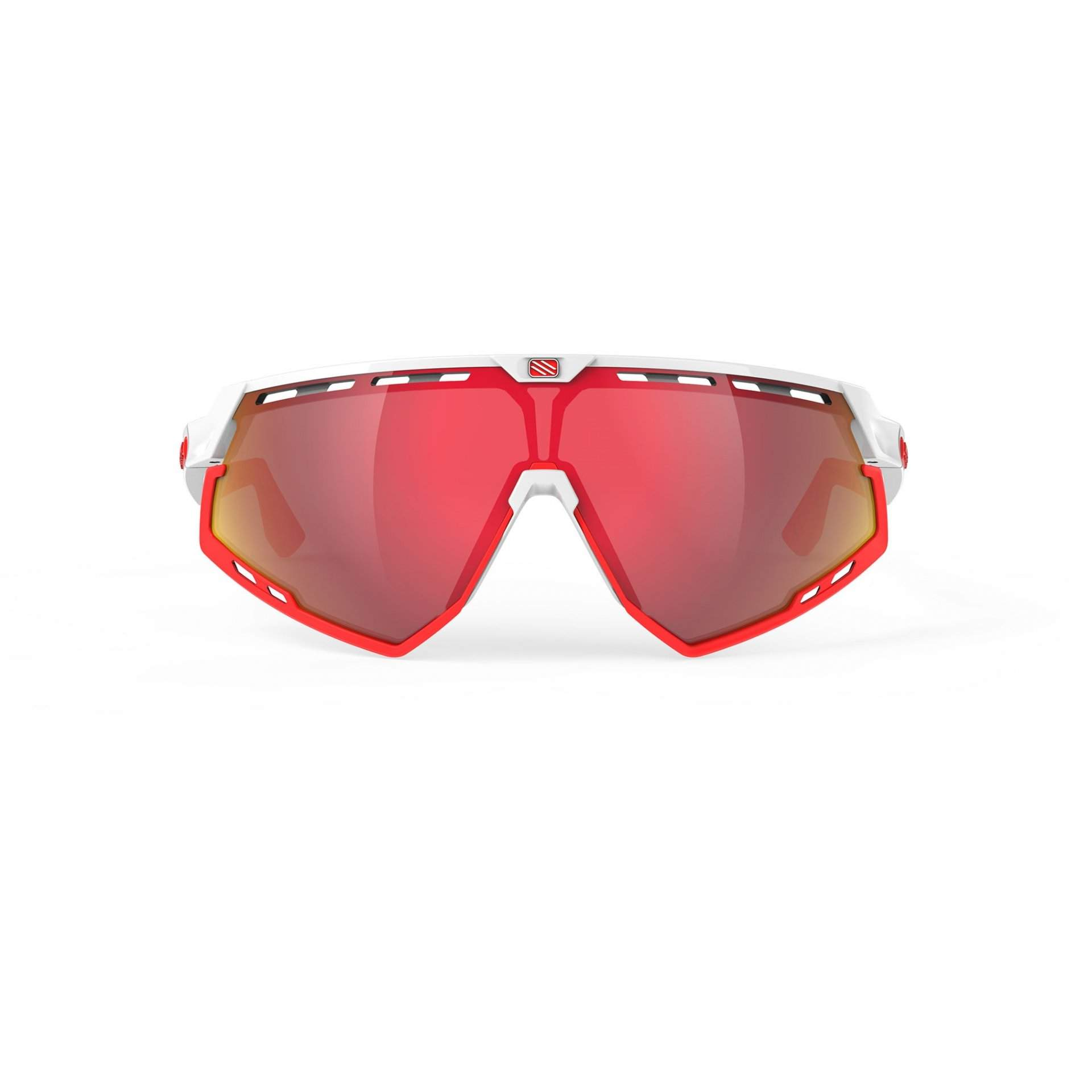 OKULARY RUDY PROJECT DEFENDER MULTILASER RED + WHITE GLOSS BUMPRES RED FLUO SP5238690000 Z PRZODU