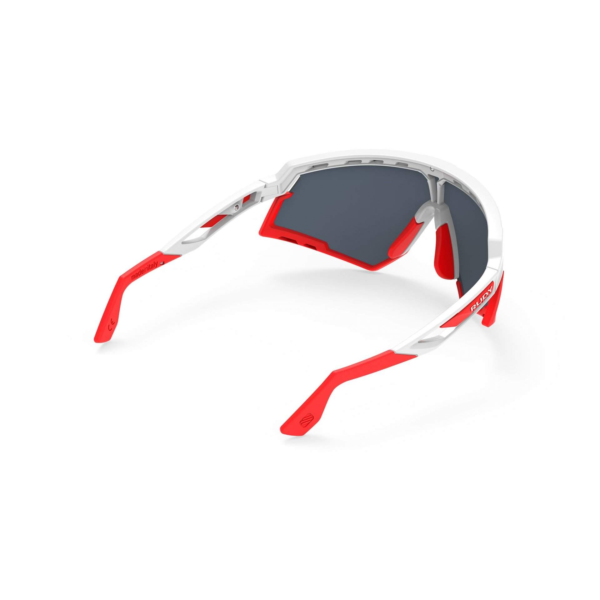 OKULARY RUDY PROJECT DEFENDER MULTILASER RED + WHITE GLOSS BUMPRES RED FLUO SP5238690000 Z TYŁU