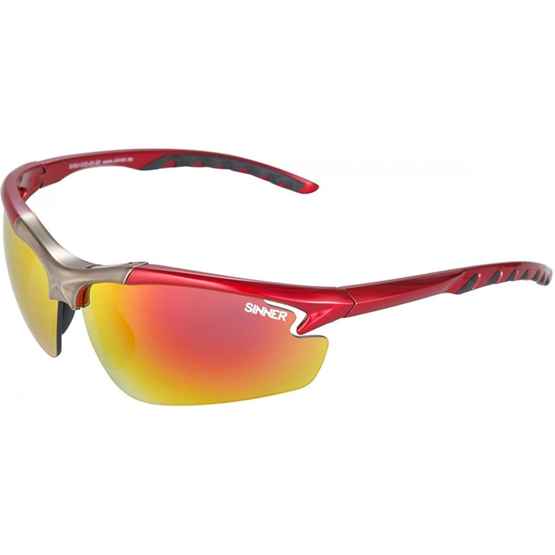 OKULARY SINNER FIREBUG RED