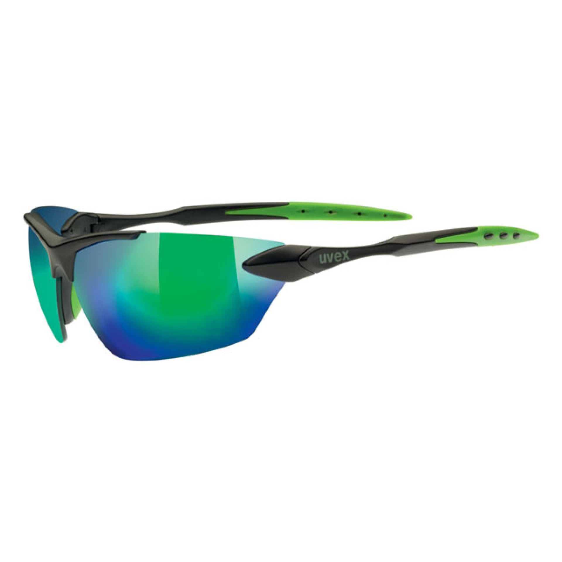 OKULARY UVEX SPORTSTYLE 203 BLACH MAT GREEN