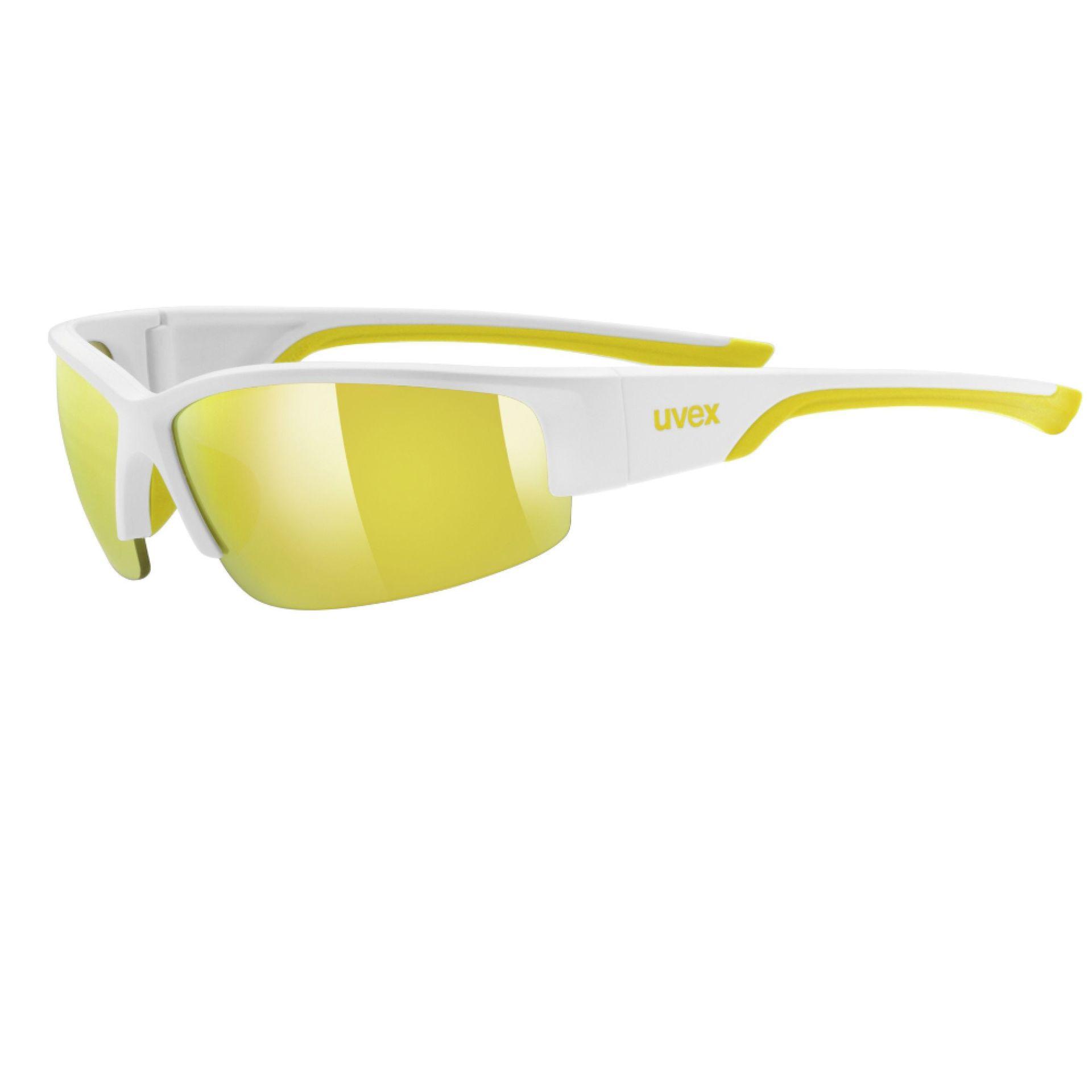 Okulary Uvex Sportstyle 215 biały żółty