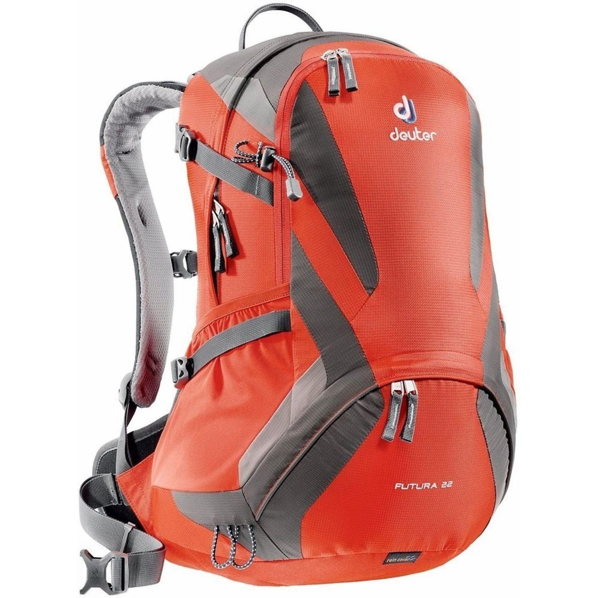 Plecak Deuter Future 22 czerwony|szary