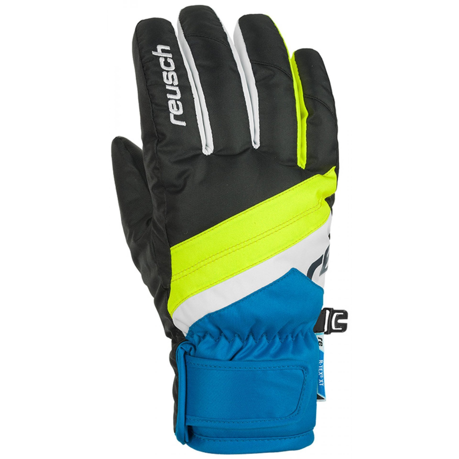 RĘKAWICE REUSCH DARIO R-TEX XT JUNIOR BLACK BRILLIANT BLUE 760