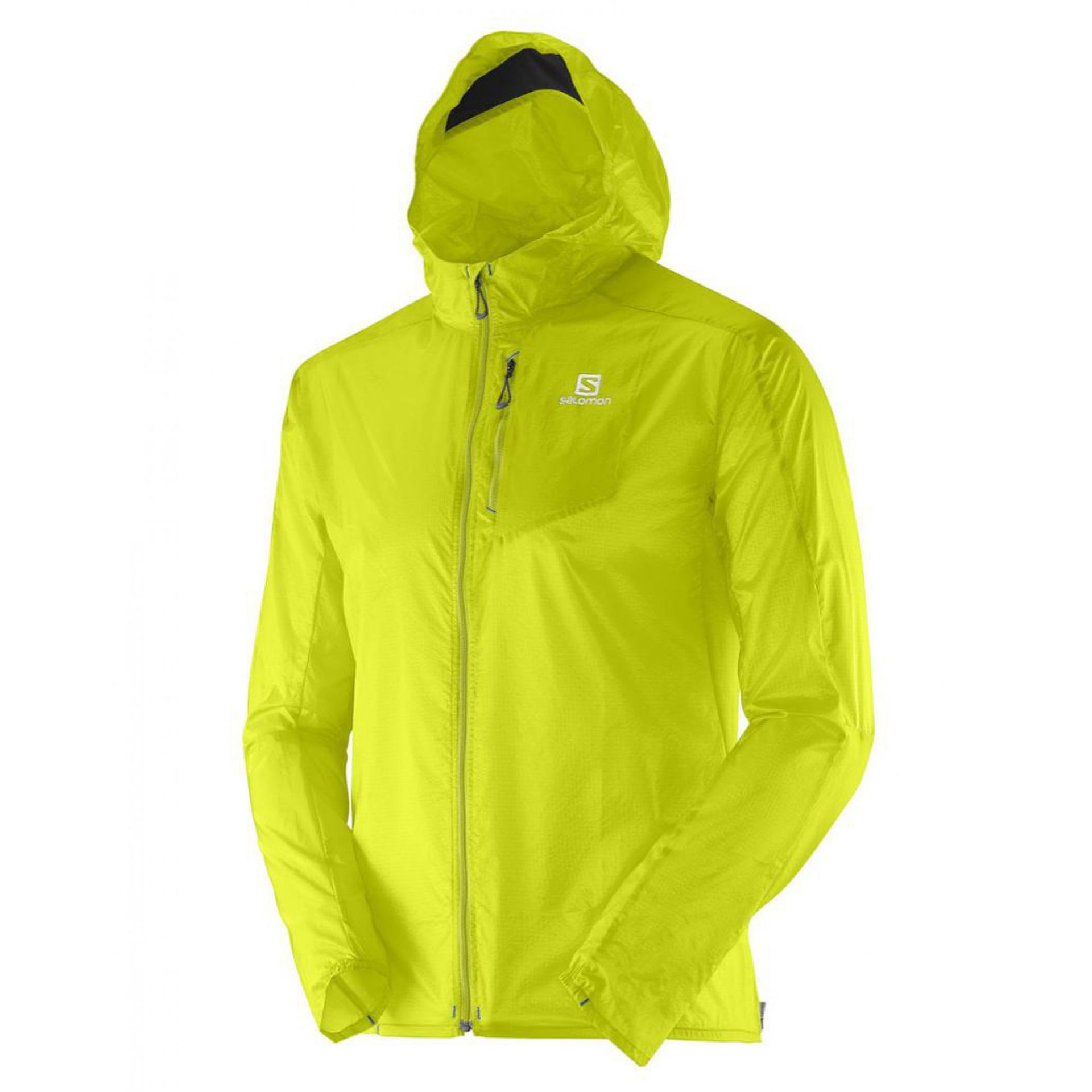 SOFTSHELL SALOMON FAST WING HOODIE limonkowy