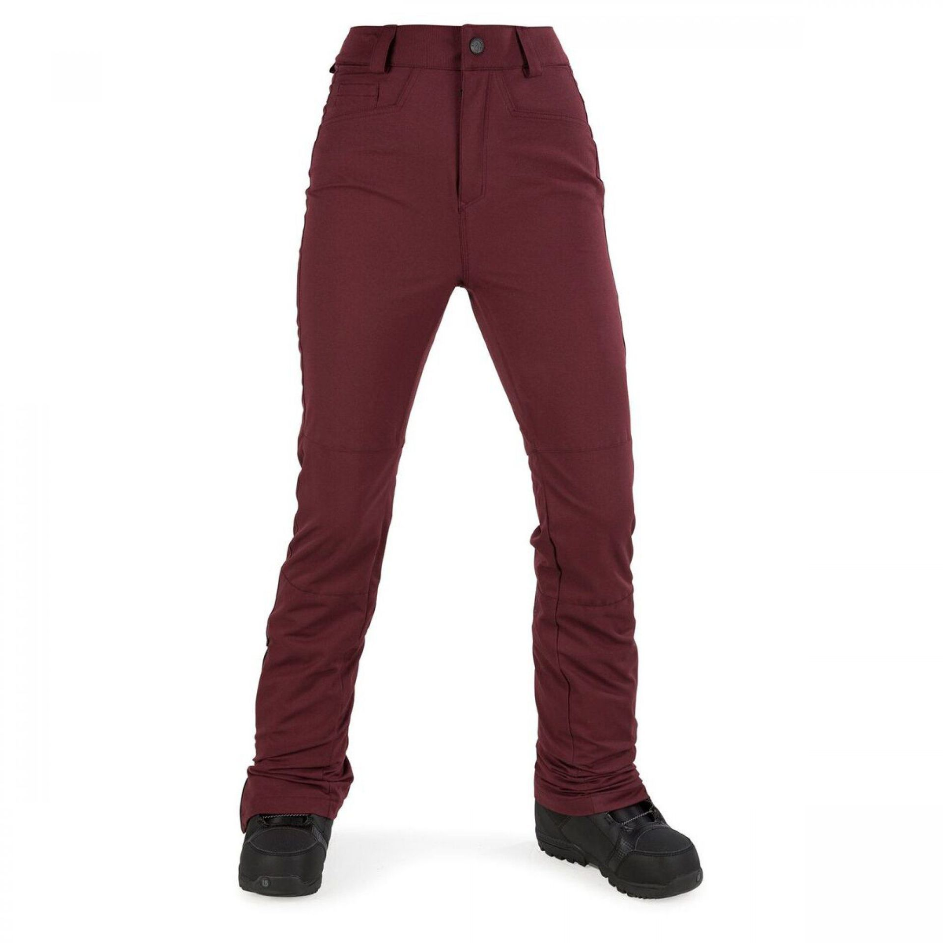 SPODNIE VOLCOM COAST PANT BLACK RED BRD
