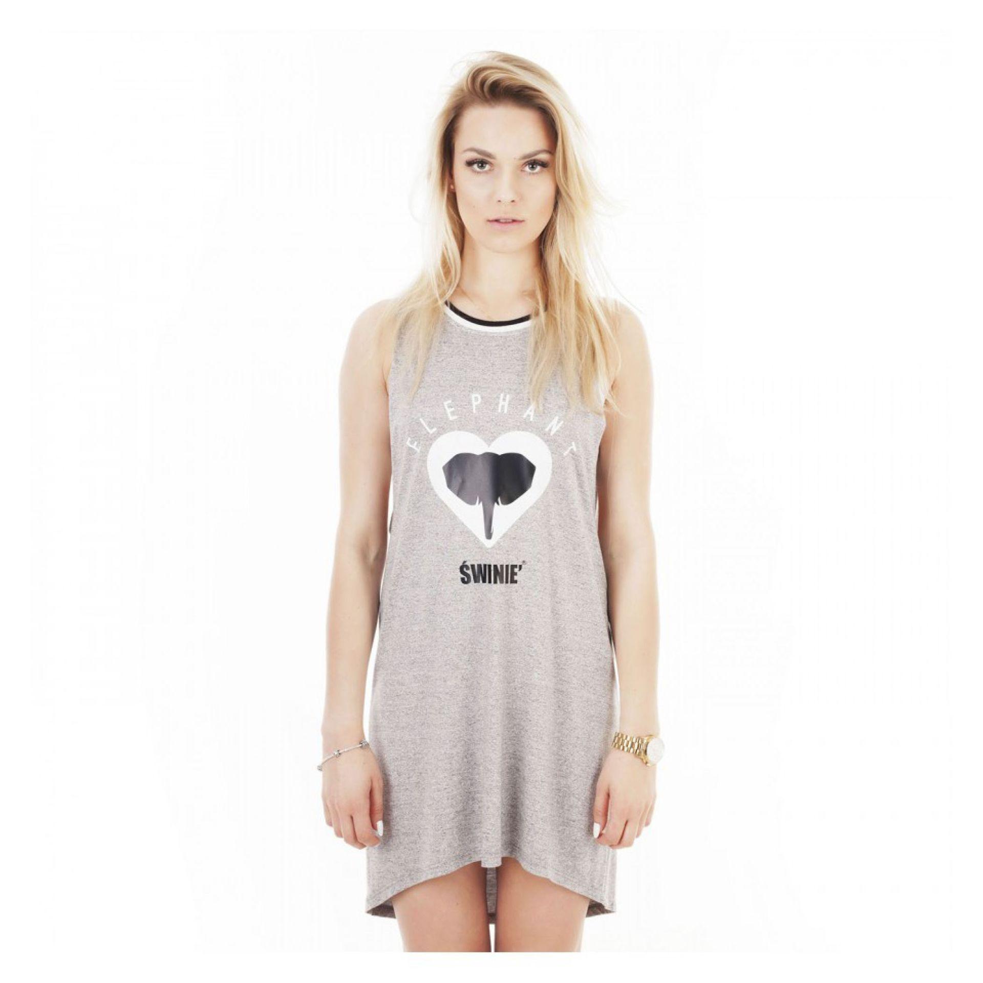 SUKIENKA ŚWINIE ELEPHANT DRESS 2016 SZARY 1