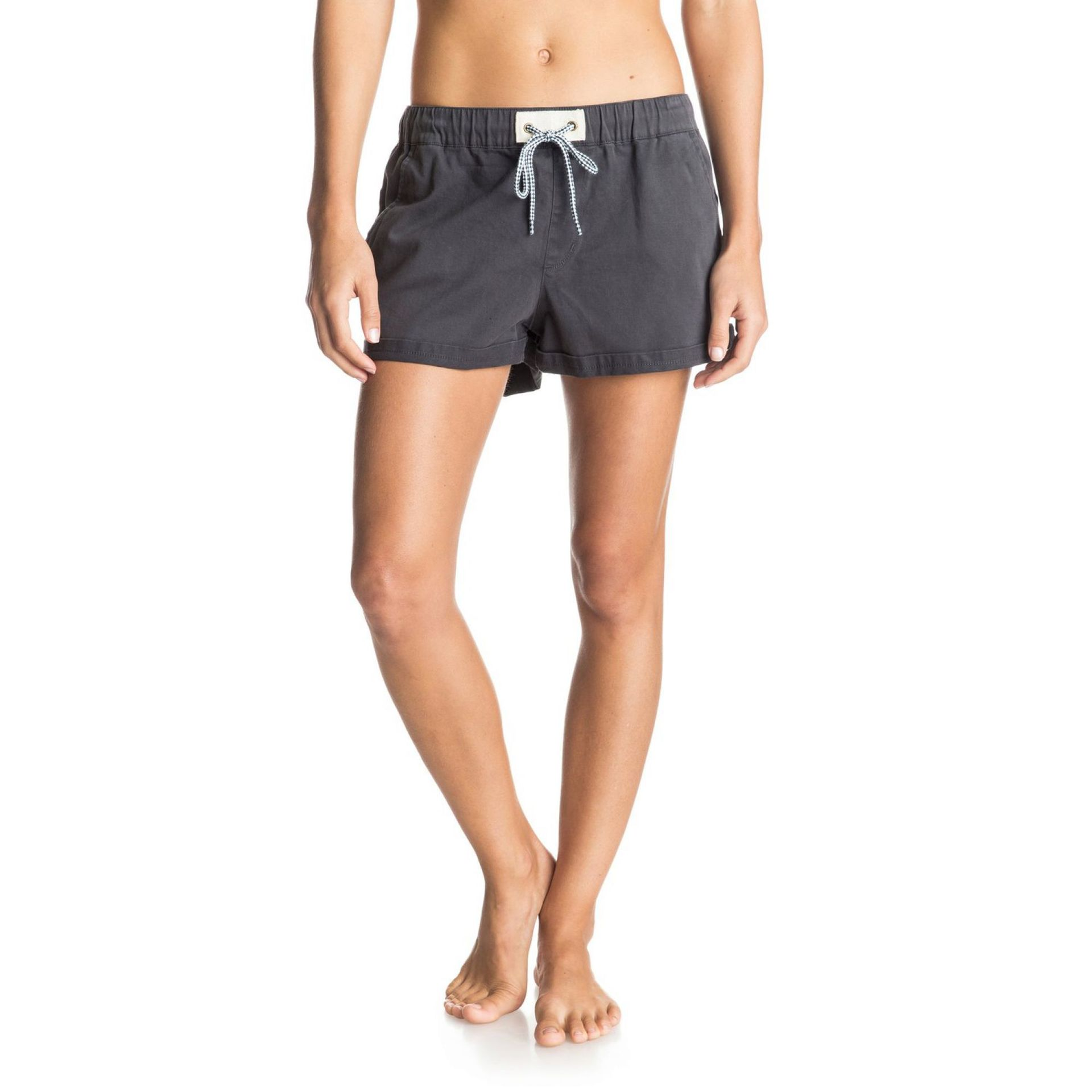 SZORTY ROXY FONXY TWILL DENIM SHORTS DARK MIDNIGHT