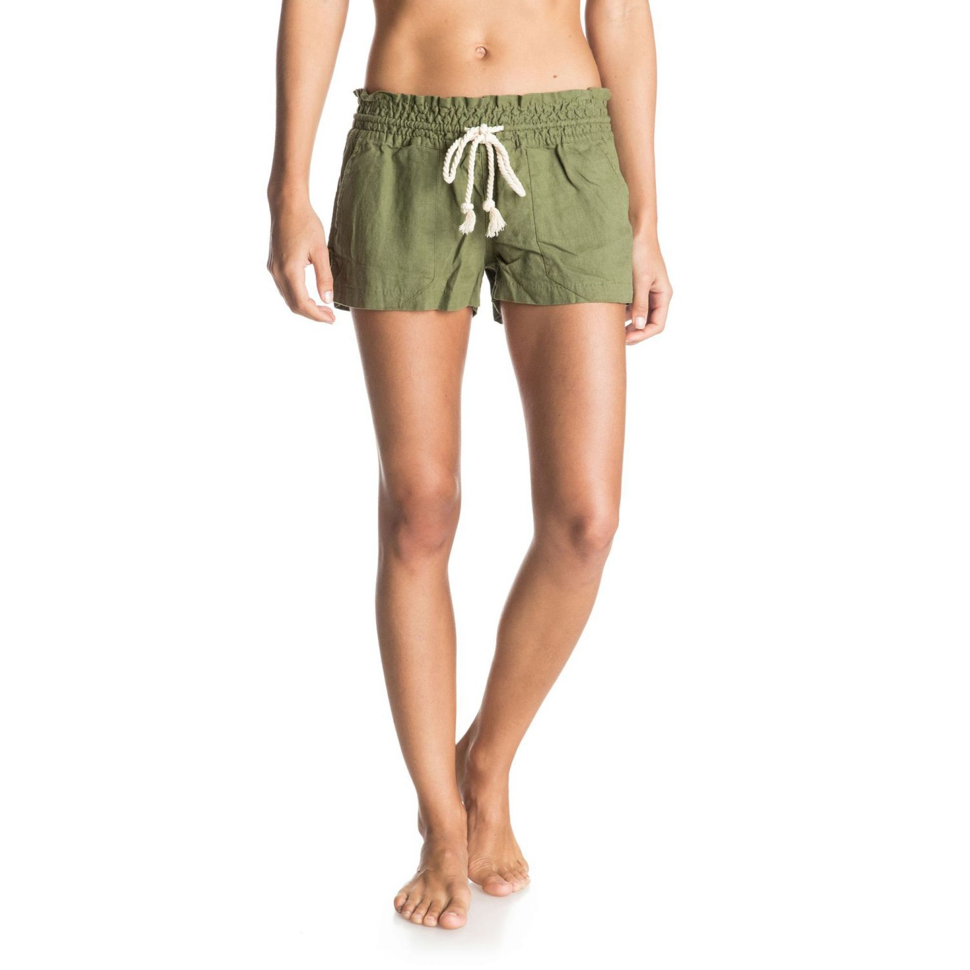 SZORTY ROXY OCEANSIDE BEACH SHORTS OLIVINE