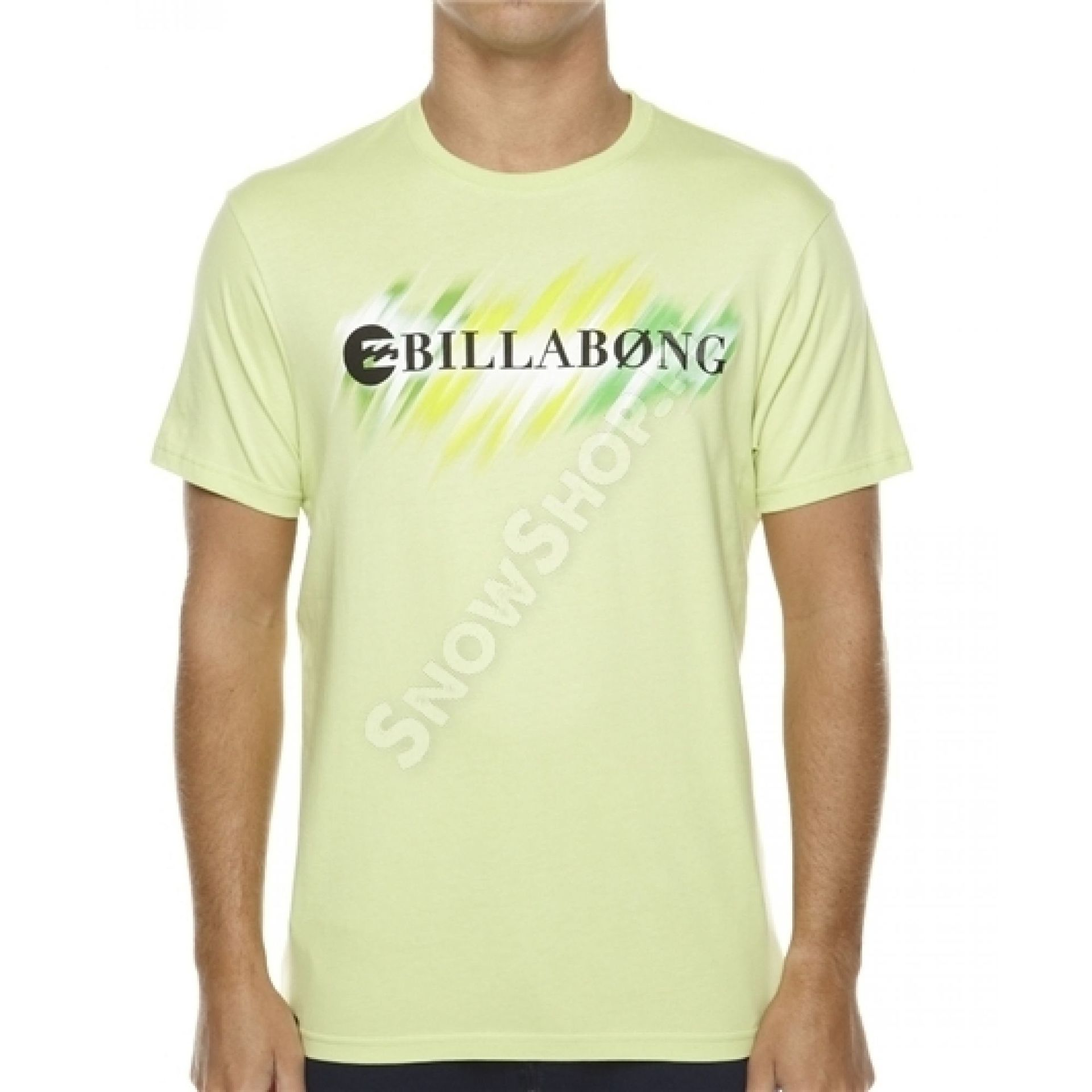 T-shirt Billabong Neon Strike Through limonkowy