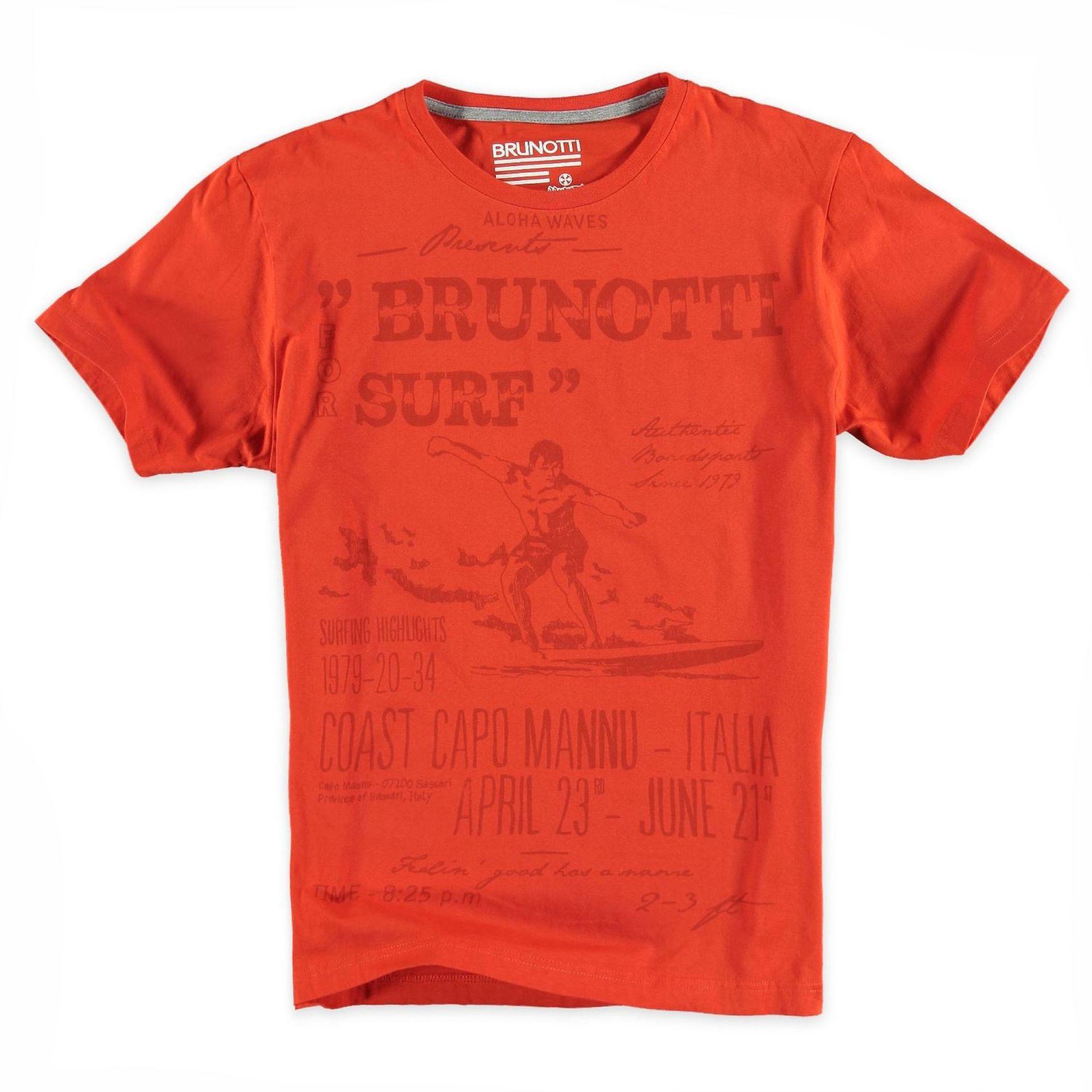 T-shirt Brunotti Altaro P-669 Pomarańczowy