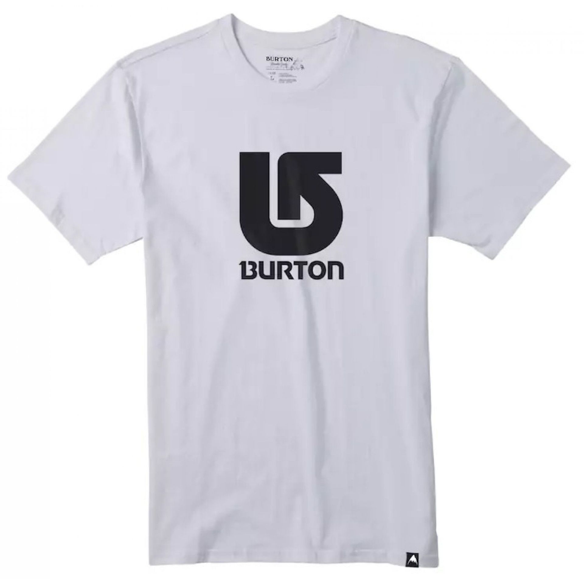 T-SHIRT BURTON LOGO VERTICAL STOUT WHITE