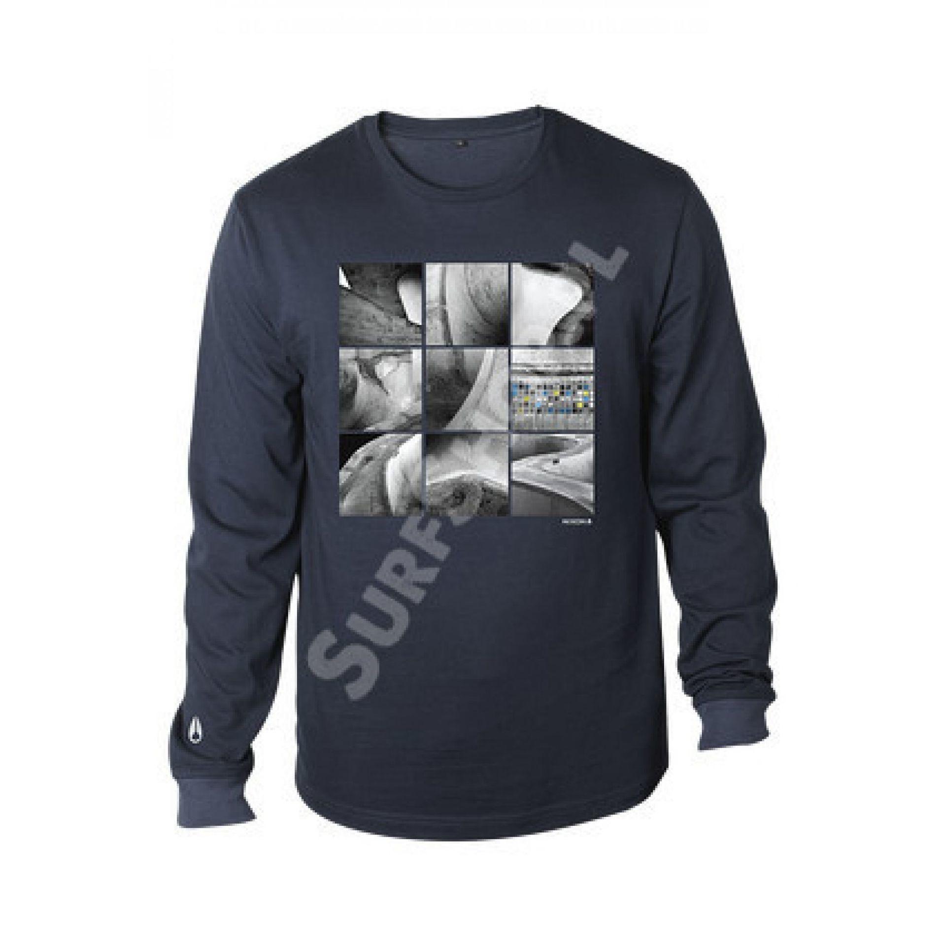 T-shirt Nixon Climate granatowy