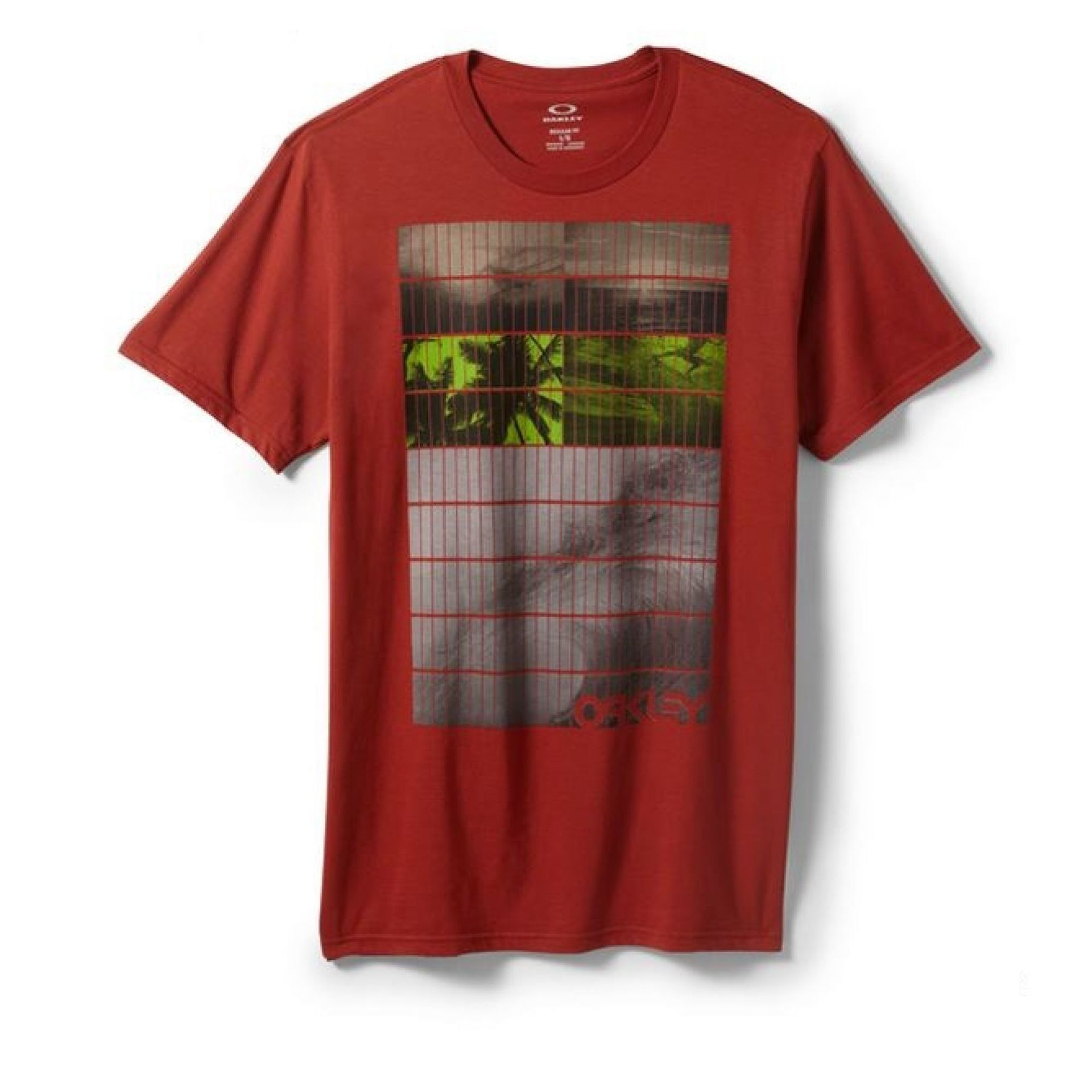 T-shirt Oakley Tiled Tee czerwony