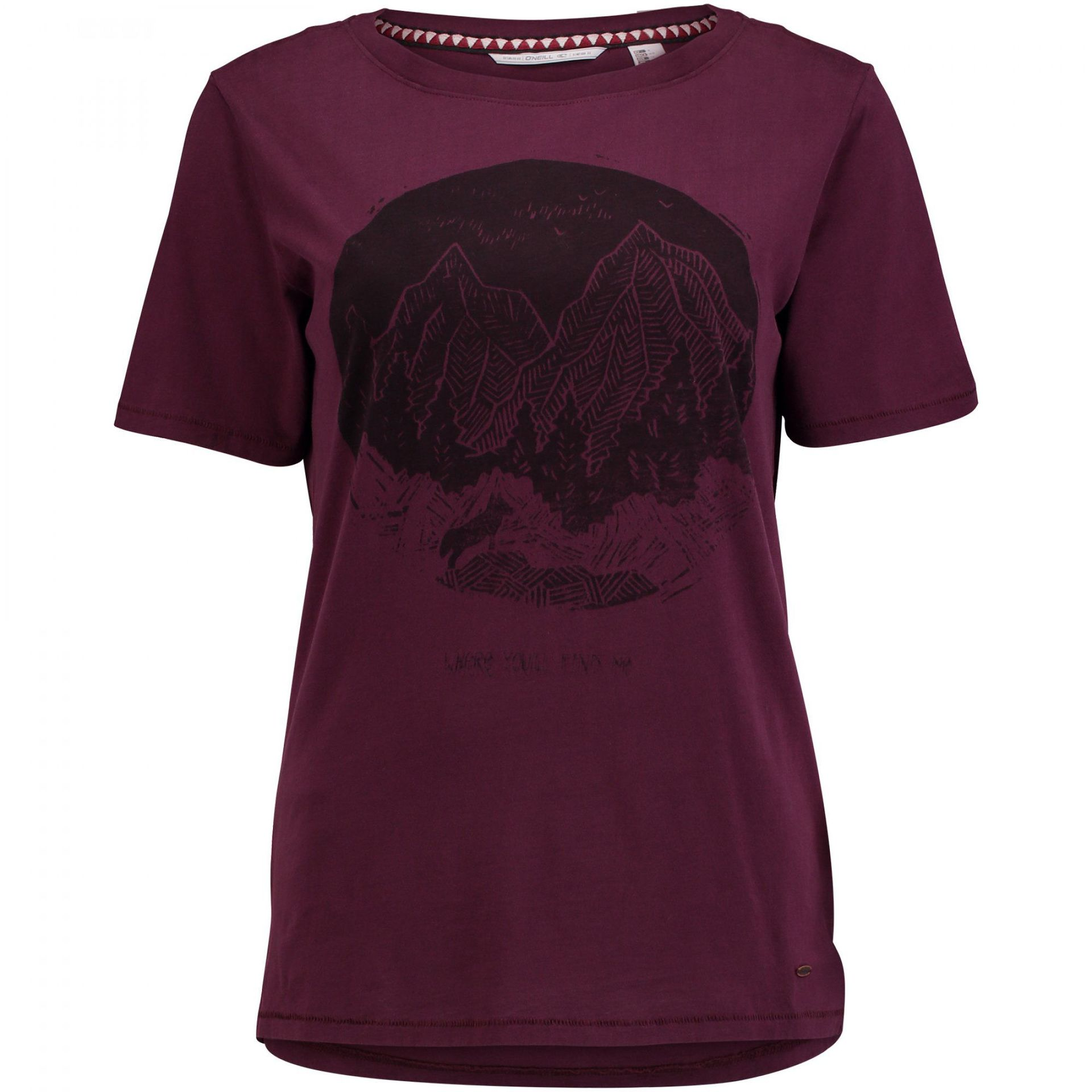 T-SHIRT ONEILL AMERICANA FIG RED
