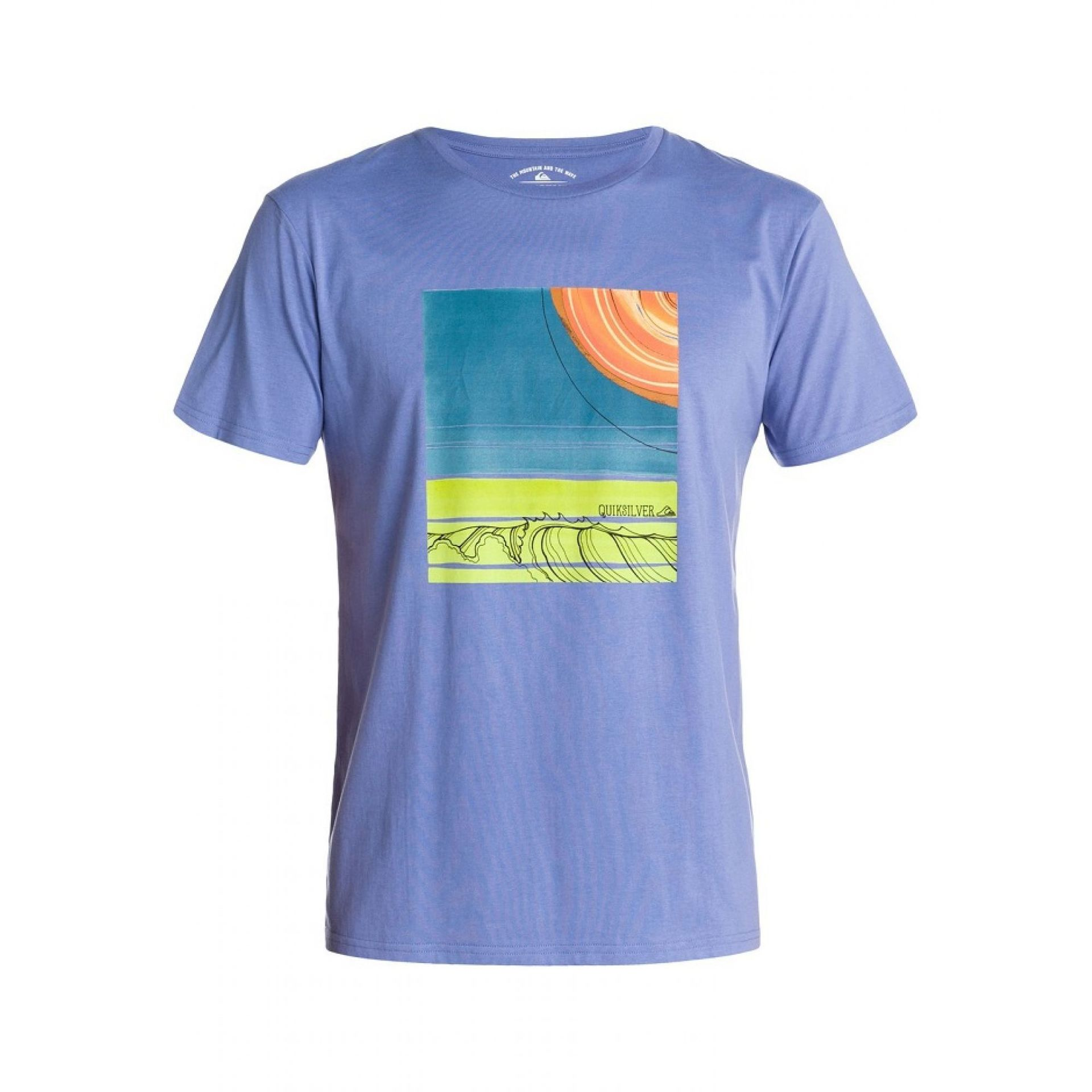 T-SHIRT QUIKSILVER BASIC FIOLETOWY
