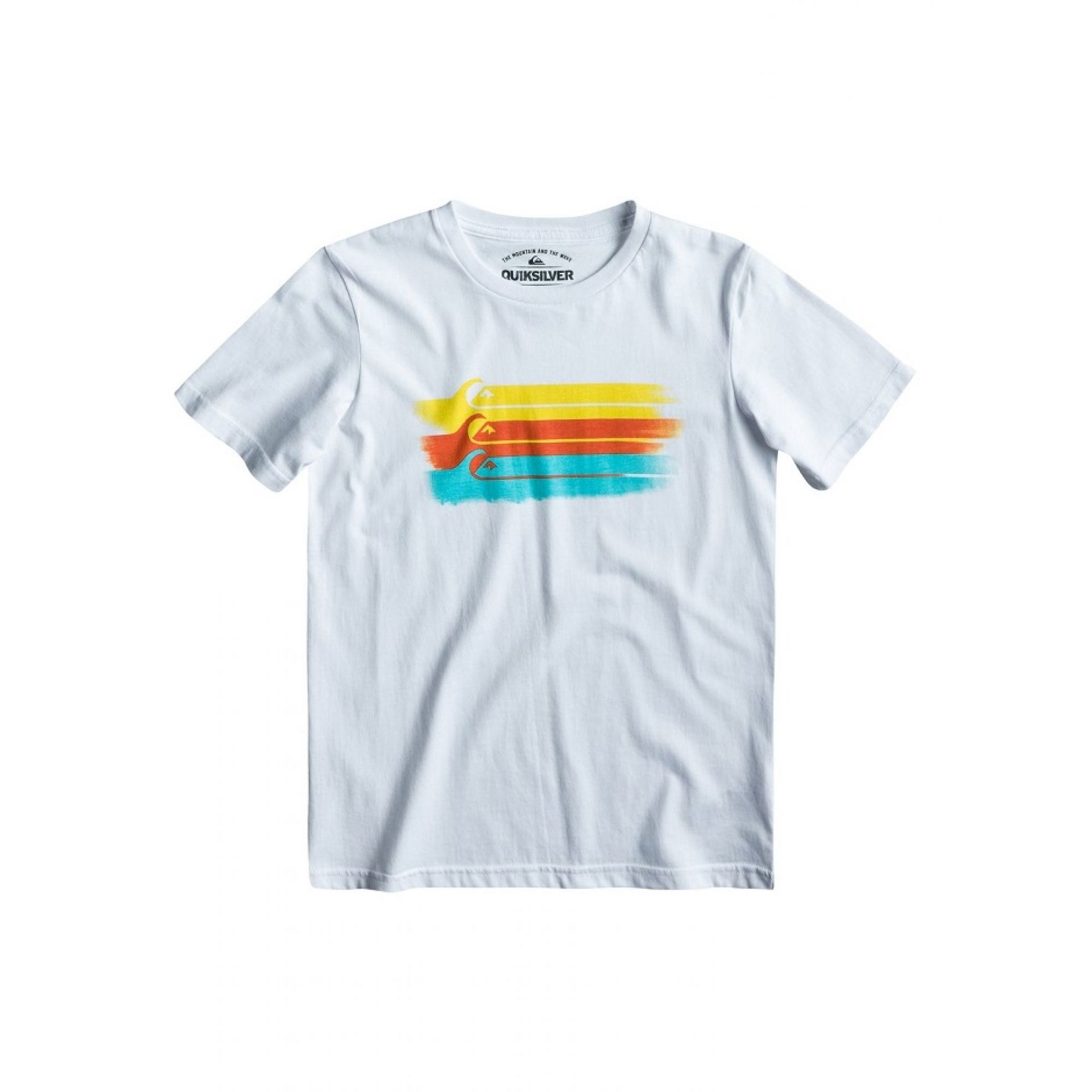 T-SHIRT QUIKSILVER BASIC YOUTH  BIAŁY