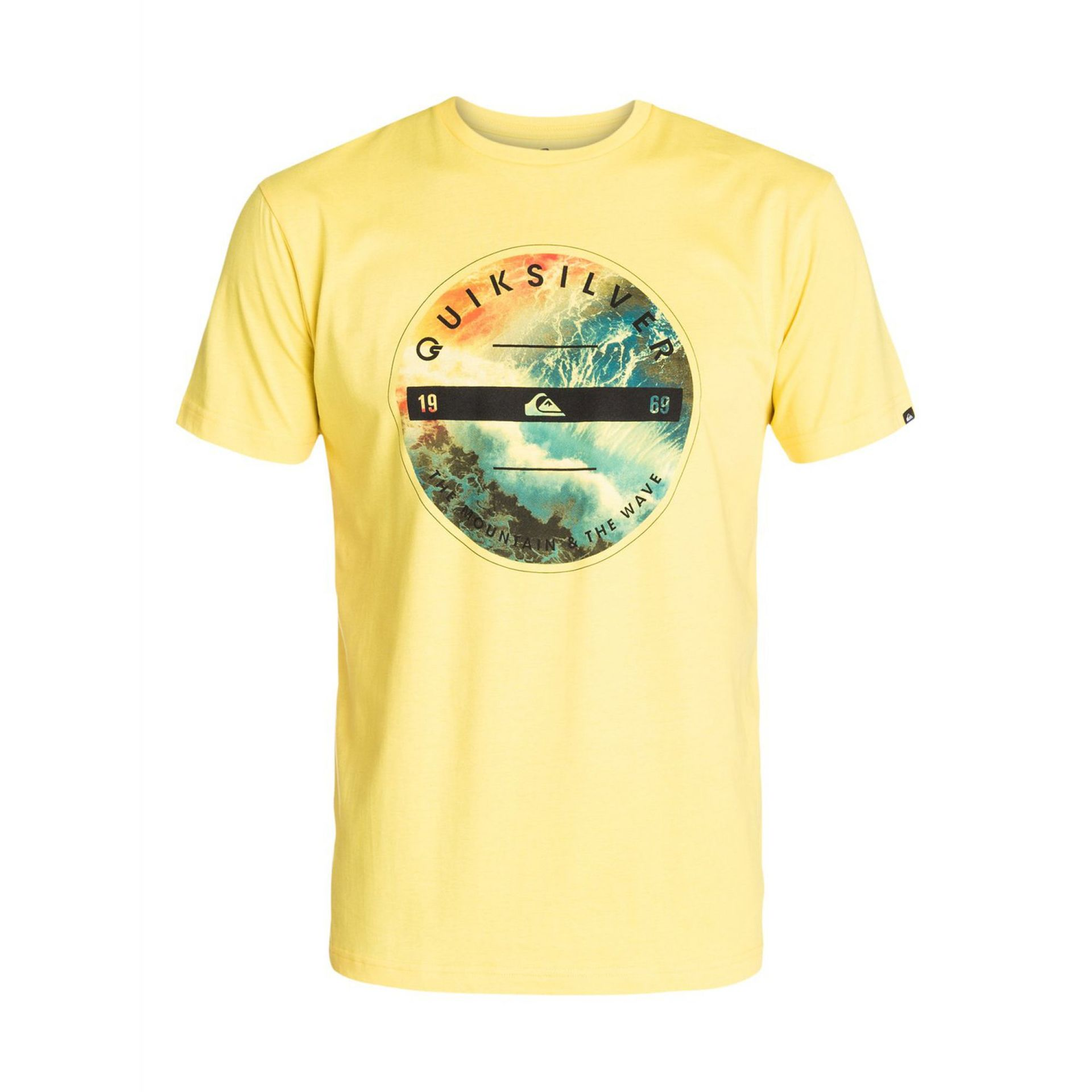 T-SHIRT QUIKSILVER CLASSIC TEE BEING THERE LEMON ZEST