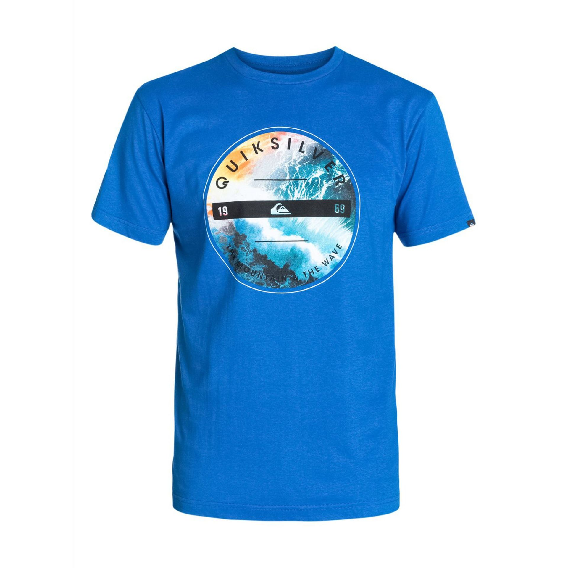 T-SHIRT QUIKSILVER CLASSIC TEE BEING THERE OLIMPIAN BLUE