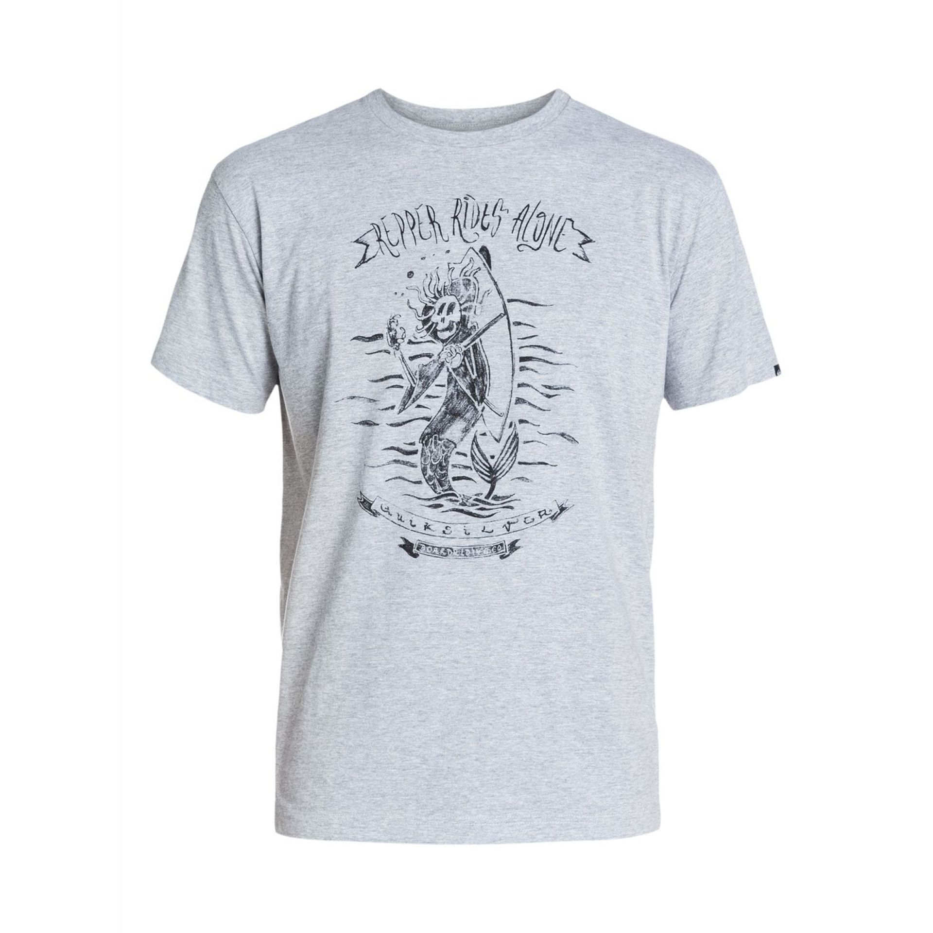 T-SHIRT QUIKSILVER CLASSIC TEE THE RAPPER ATHLETIC HEATHER