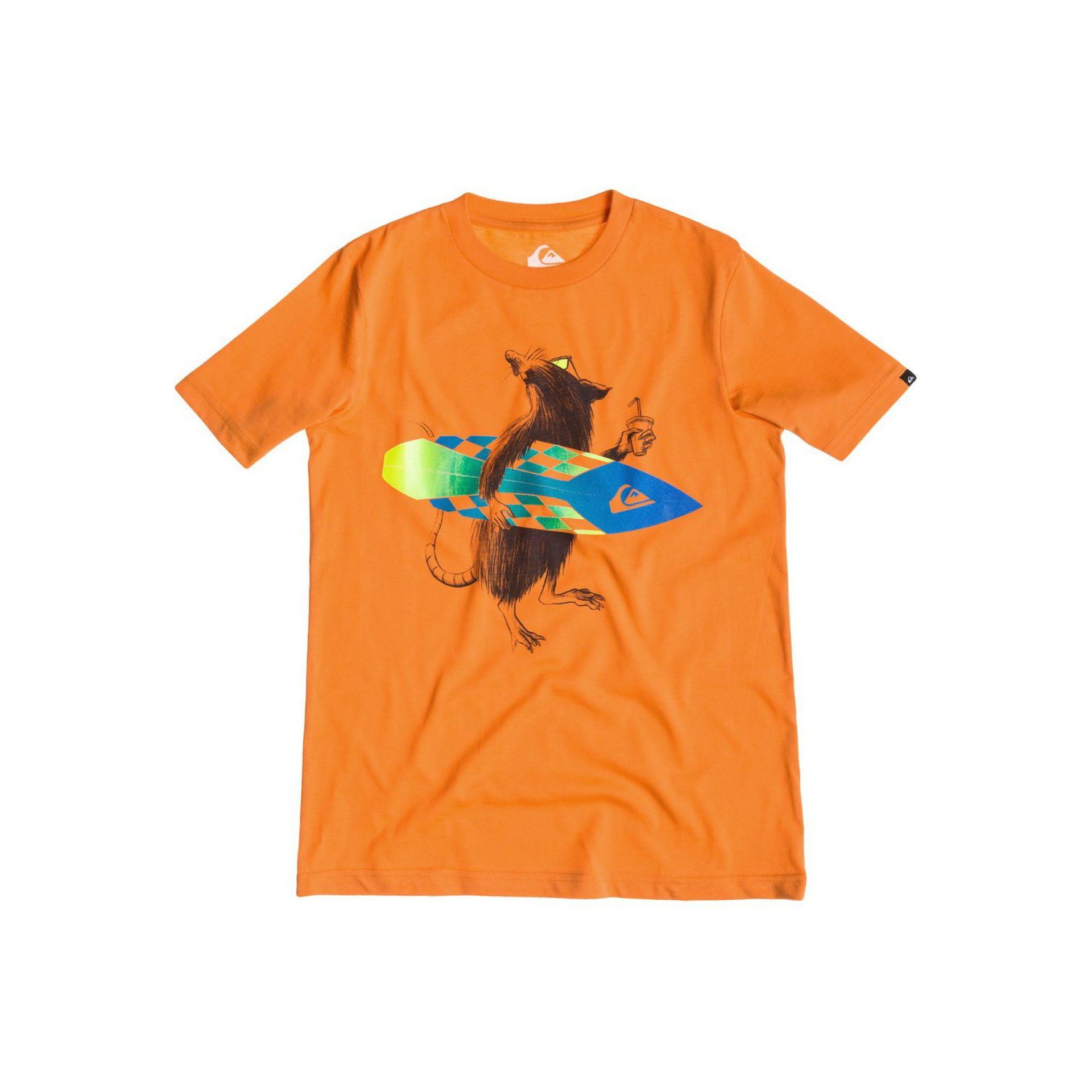 T-SHIRT QUIKSILVER CLASSIC TEE YOUTH NORSE TANGERINE