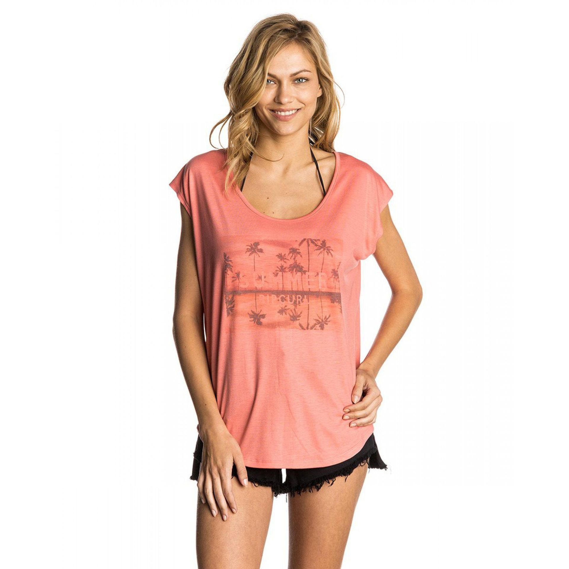 T-SHIRT RIP CURL ENDLESS SUMMER 4403 SUNKIST CORAL 1