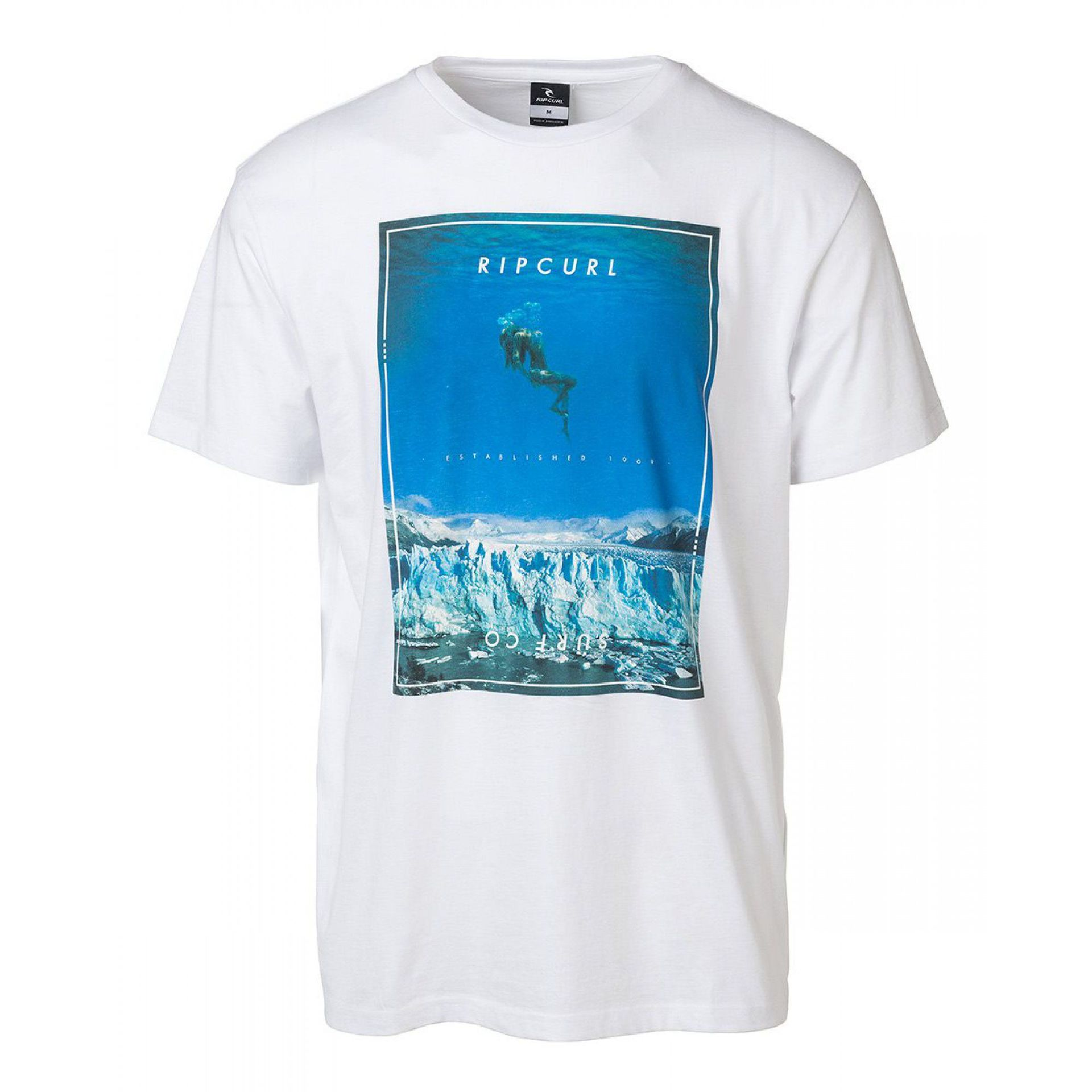 T-SHIRT RIP CURL GOOD DAY BAD DAY 1638 WHITE 1