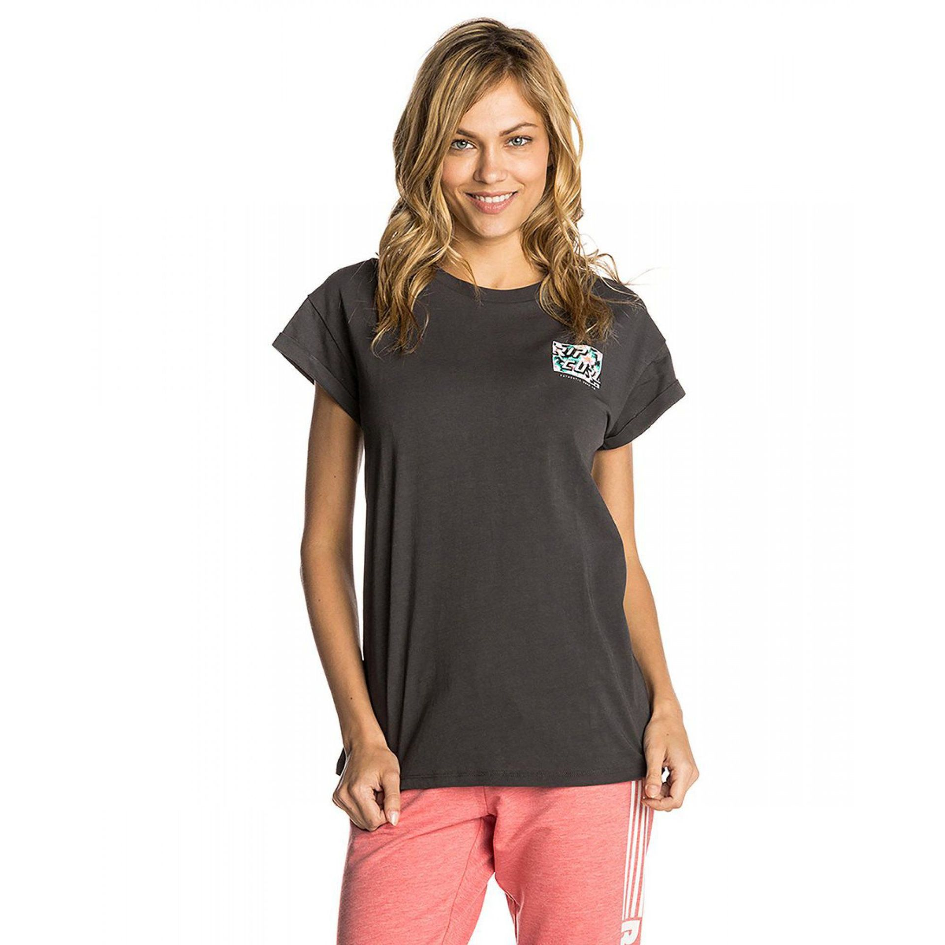 T-SHIRT RIP CURL HOT SHOT GRAY 1