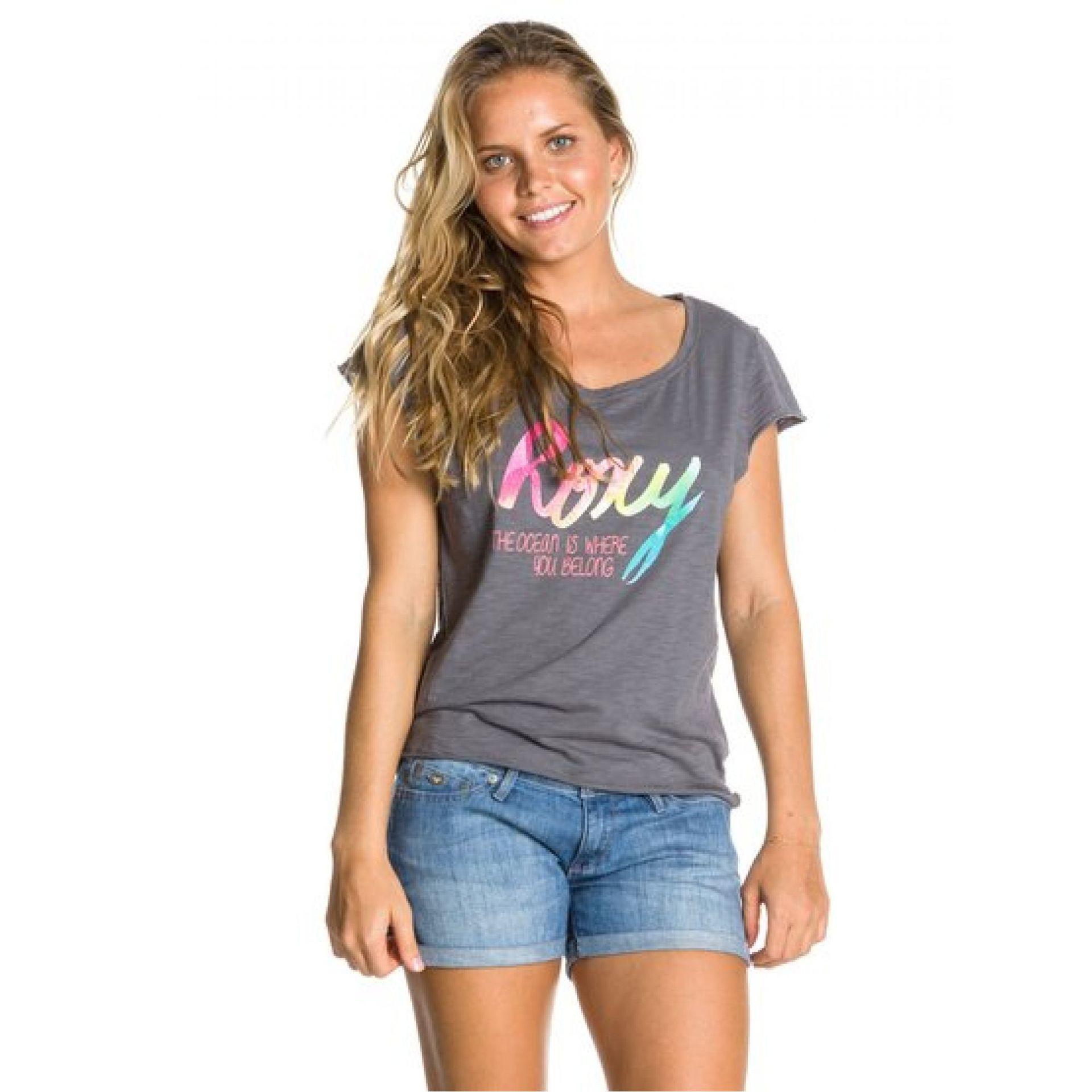 T-shirt Roxy Aruba Tee A szary przód