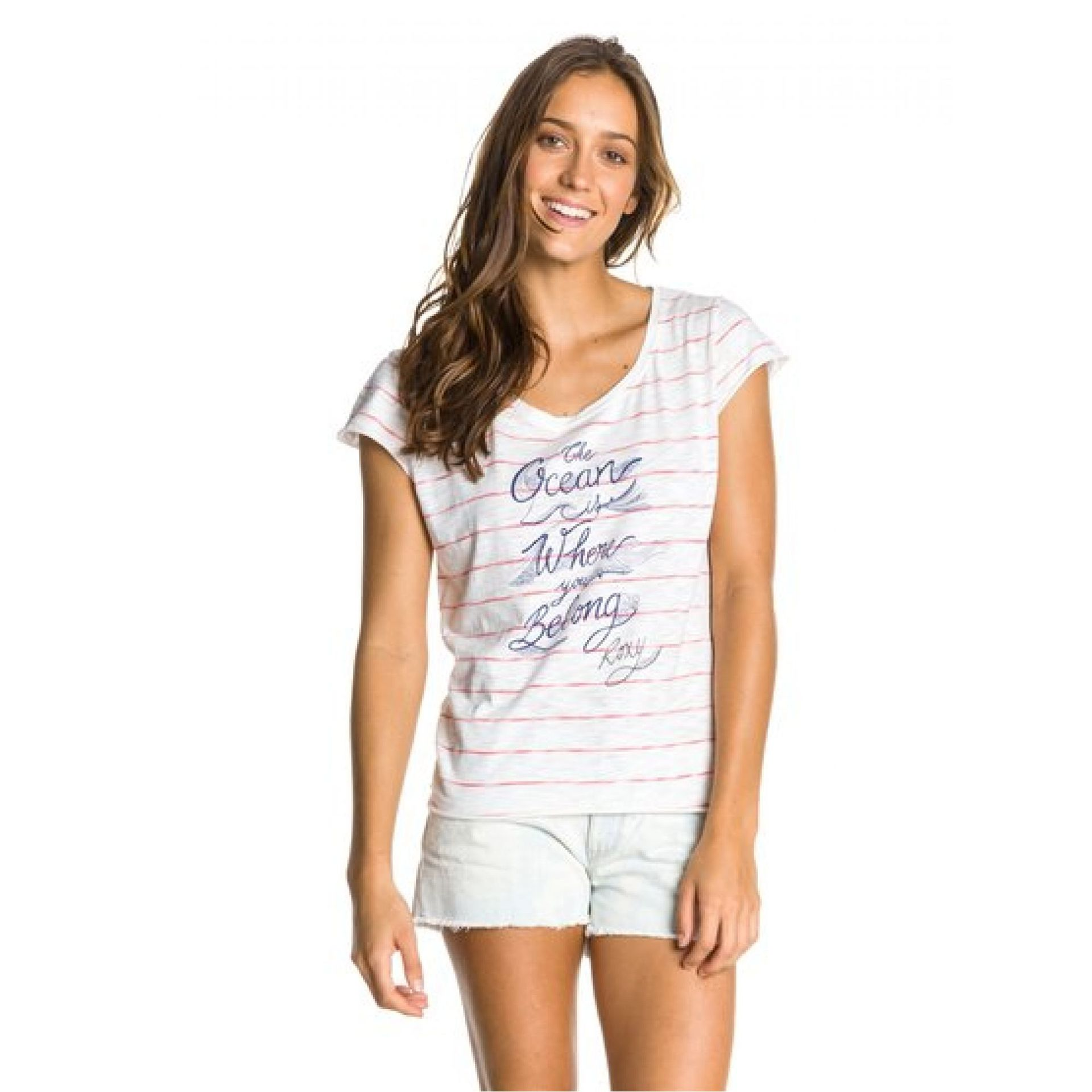 T-shirt Roxy Aruba Tee B biały