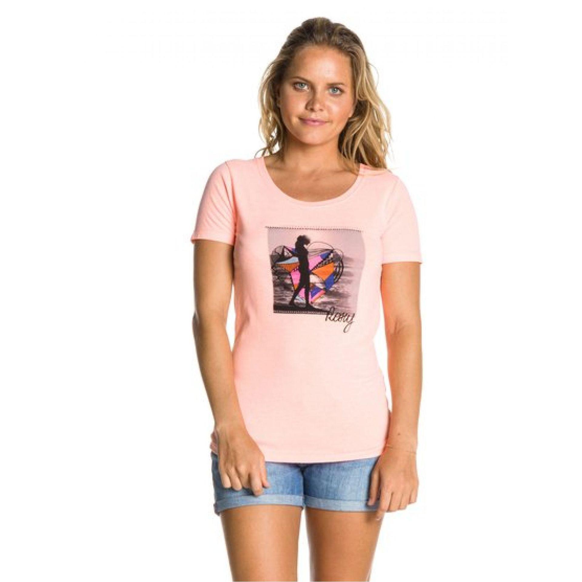 T-shirt Roxy Good Looking Flag D różowy