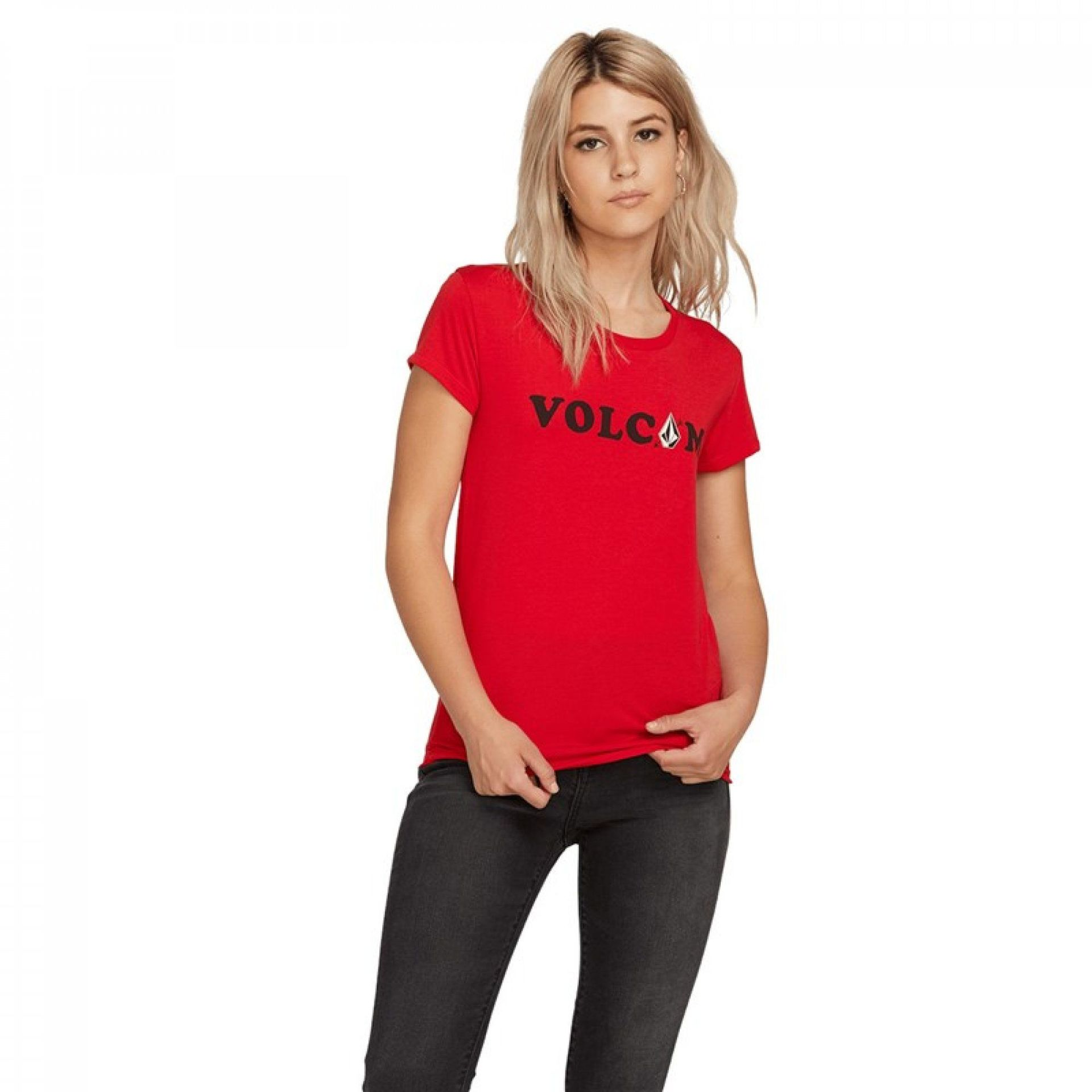 T-SHIRT VOLCOM EASY BABE B3511953-RED 1