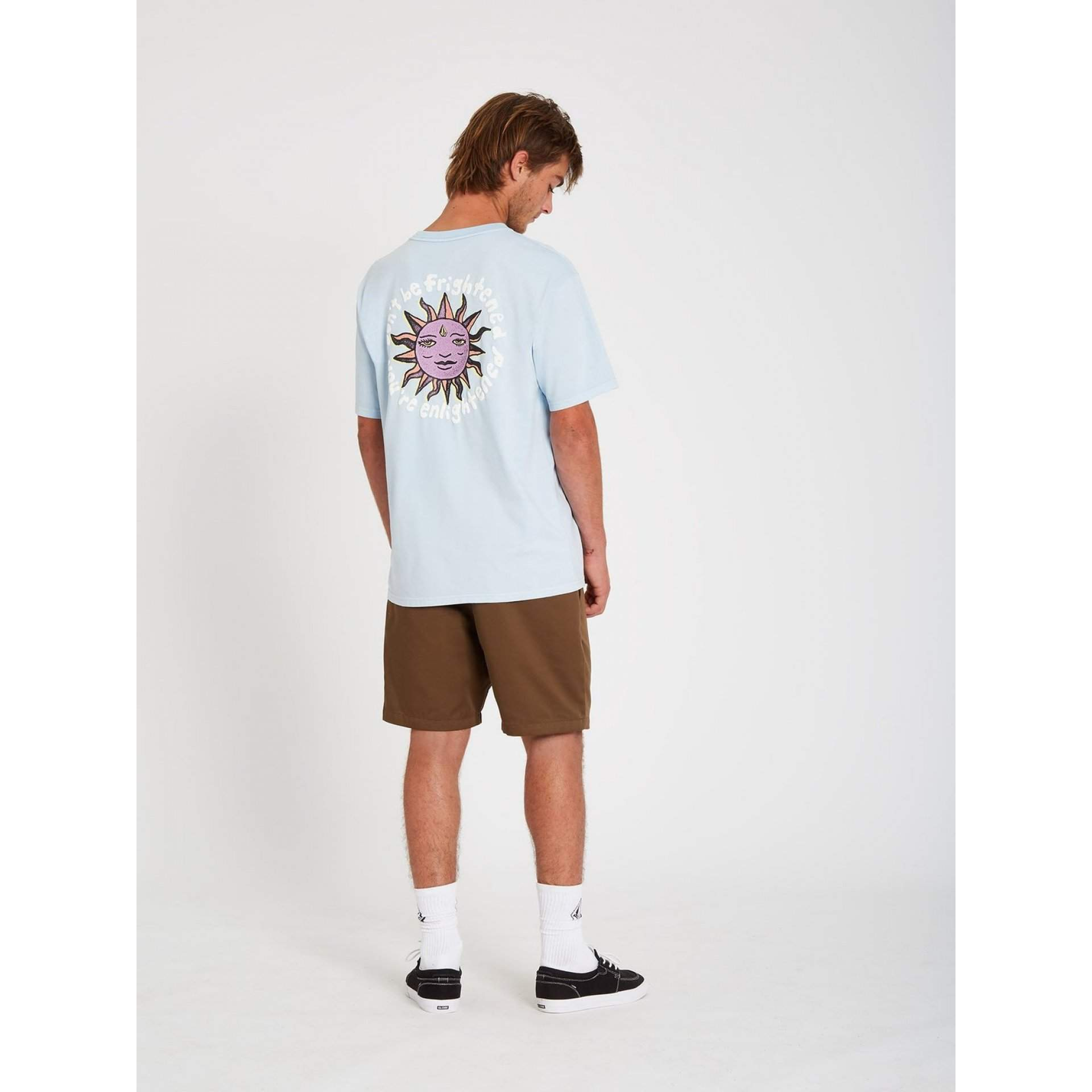 T-SHIRT VOLCOM OZZY WRONG A4312104 AETHER BLUE NA MODELU