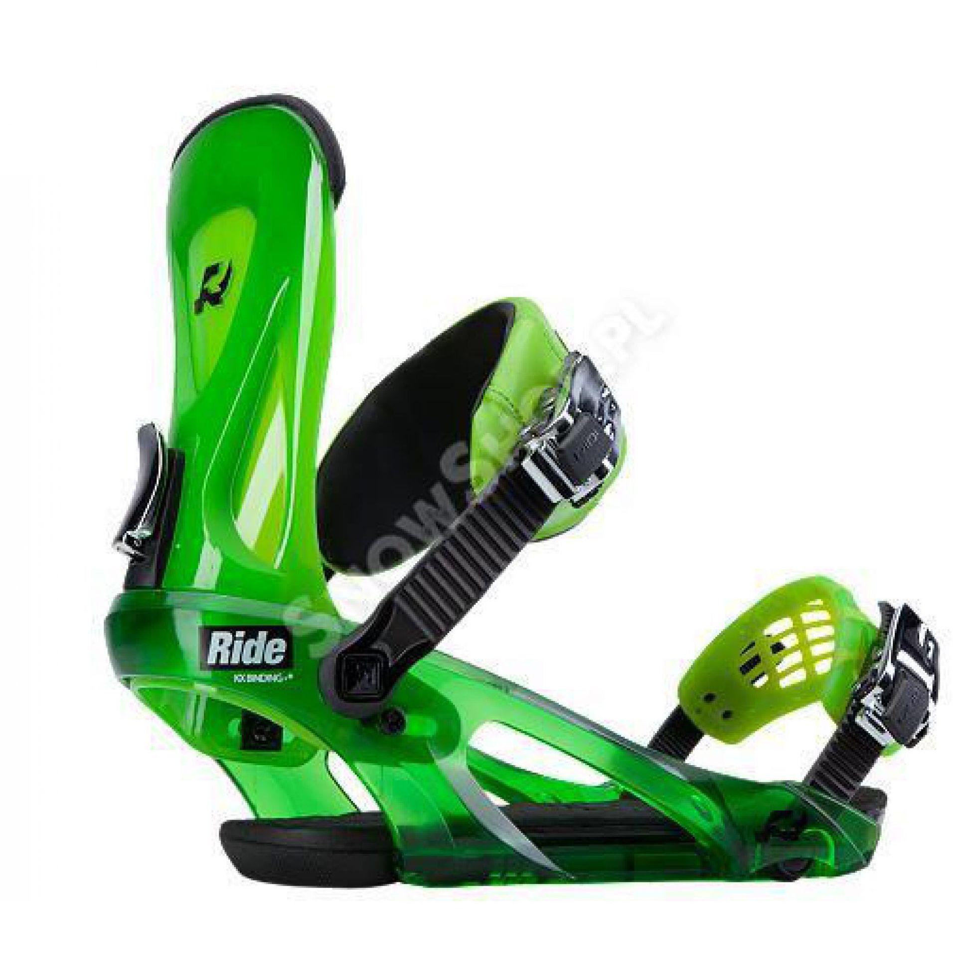 Wiązania snowboardowe Ride KX limonkowe