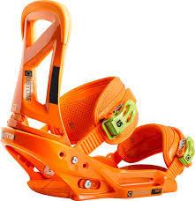Wiązania Burton Custom Est pomarańczowe