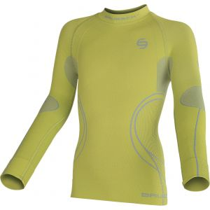 BLUZA BRUBECK THERMO JR LS11450-111 LIMONKOWY