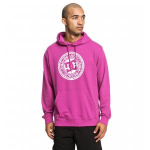 BLUZA DC  CIRCLE STAR HOODIE  2019 FIOLETOWY