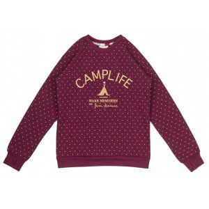 BLUZA FEMI PLEASURE  CAMPI BURGUNDY  2017 BORDOWY